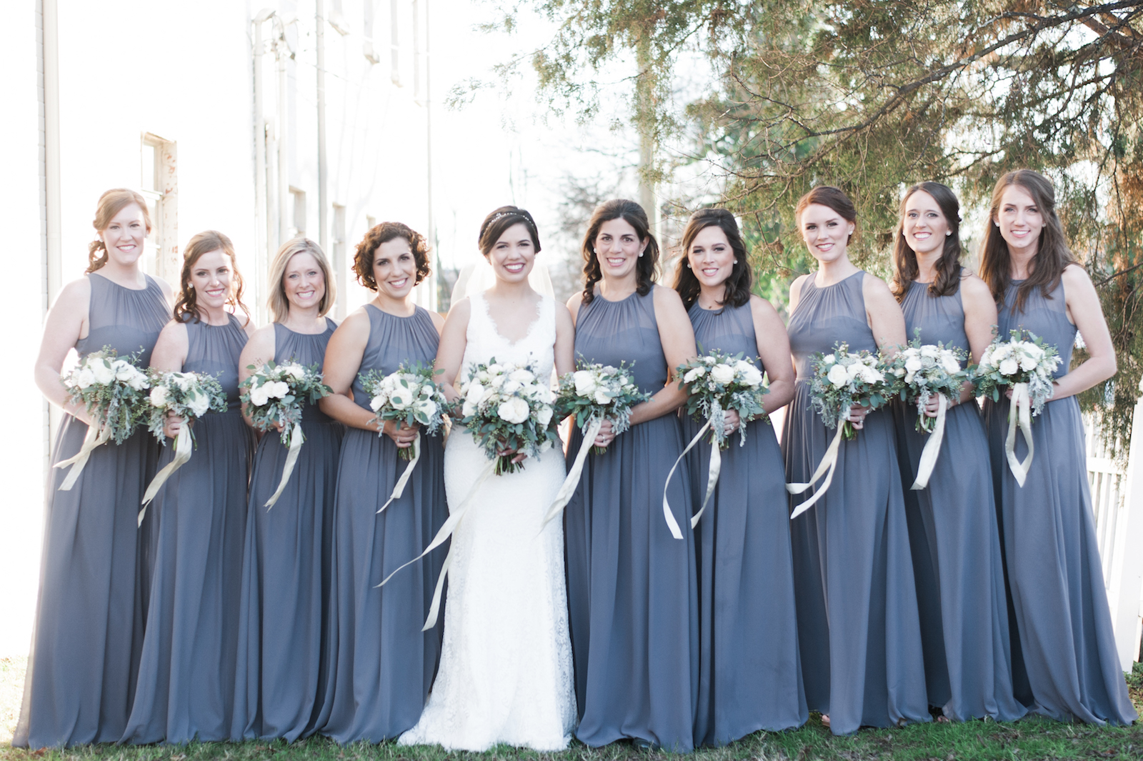 Grey and white wedding color palate // Nashville Floral Design