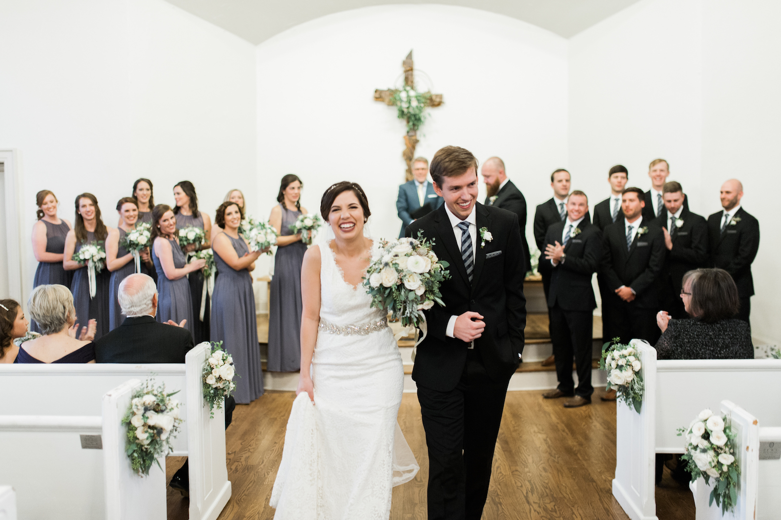 White Winter Wedding // Nashville Florist