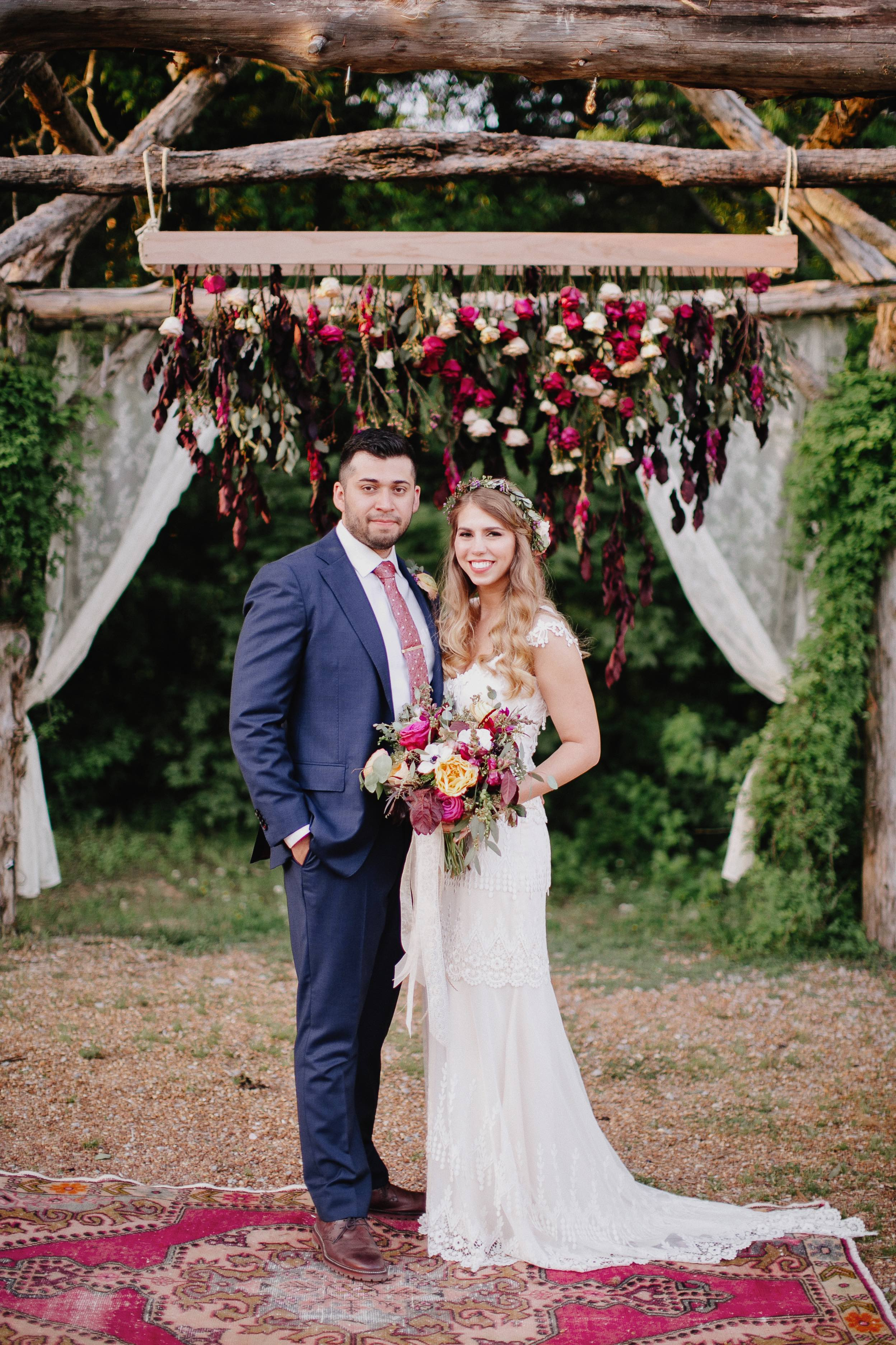 Rustic, bohemian wedding in the Tennessee countryside // Nashville Floral Design