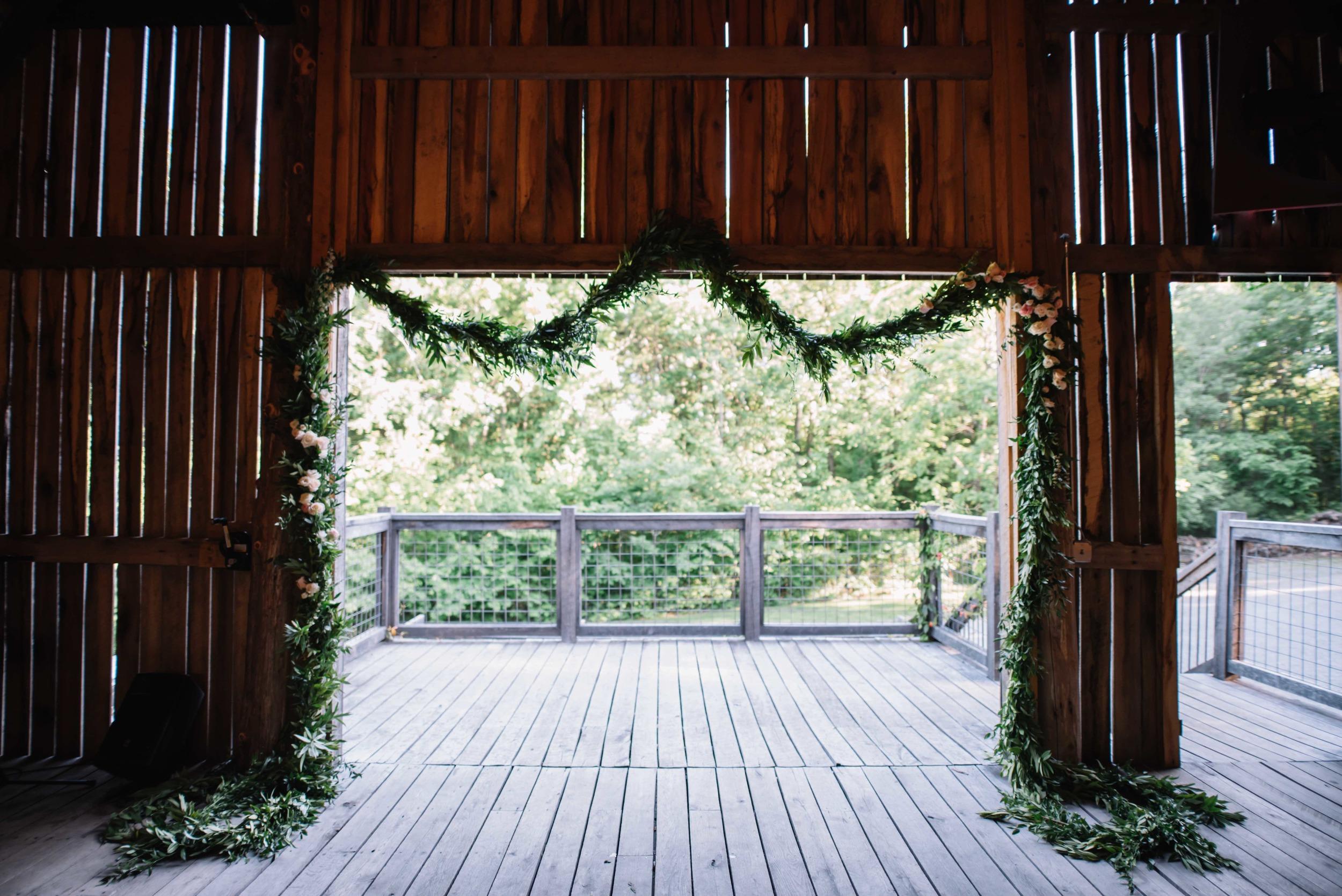 Rustic Barn Wedding Backdrop // Nashville Floral Design