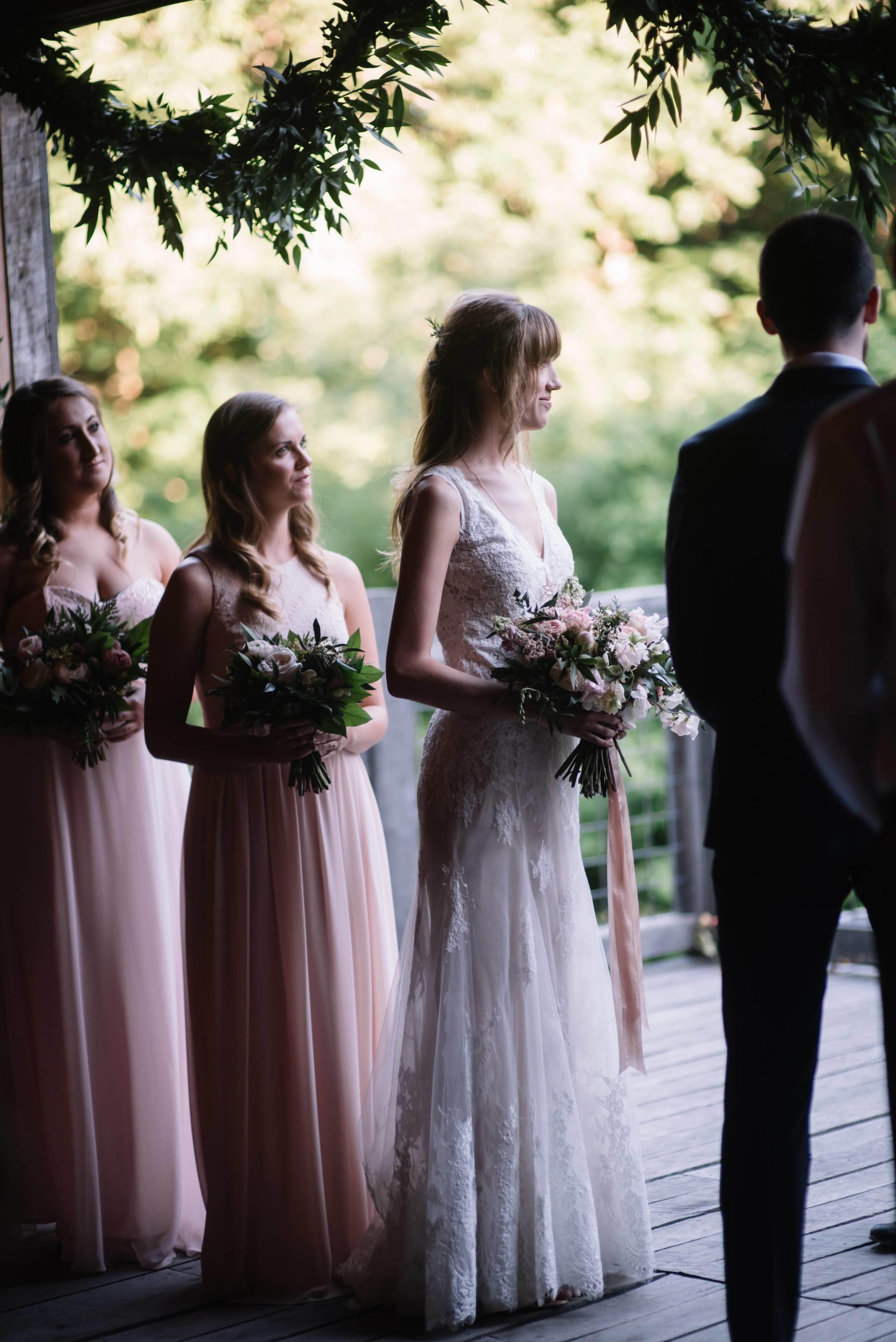Barn Wedding Ceremony // Destination Wedding Flowers