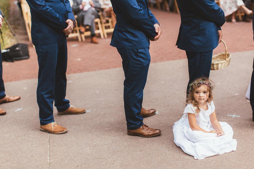 Flower girl crown // Nashville Floral Design for Weddings