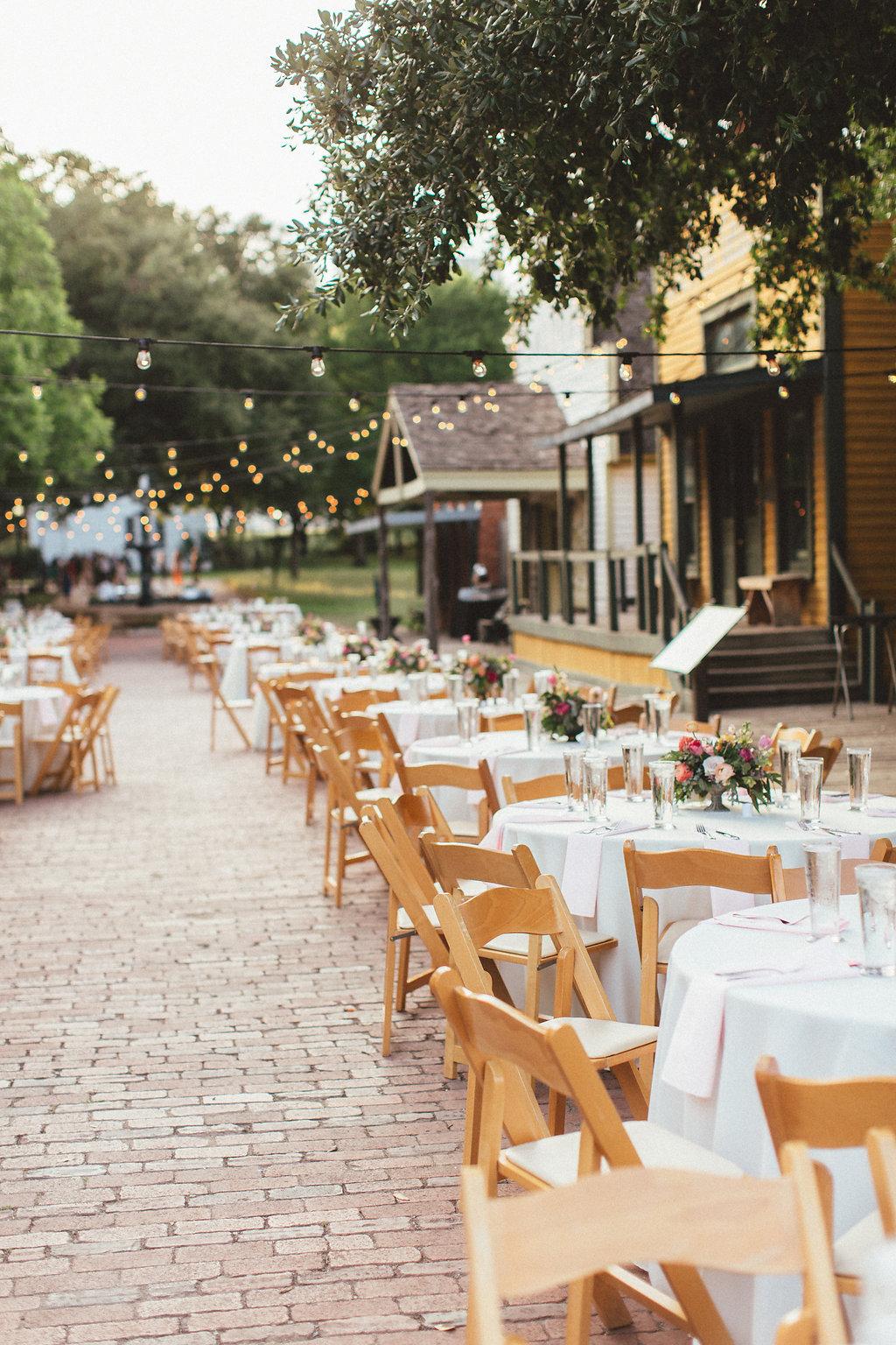 Dallas Heritage Village Wedding Reception // Lush, Organic Floral Design