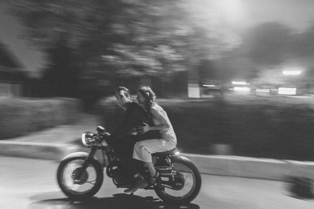 Motorcycle Wedding Getaway // Dallas Floral Design