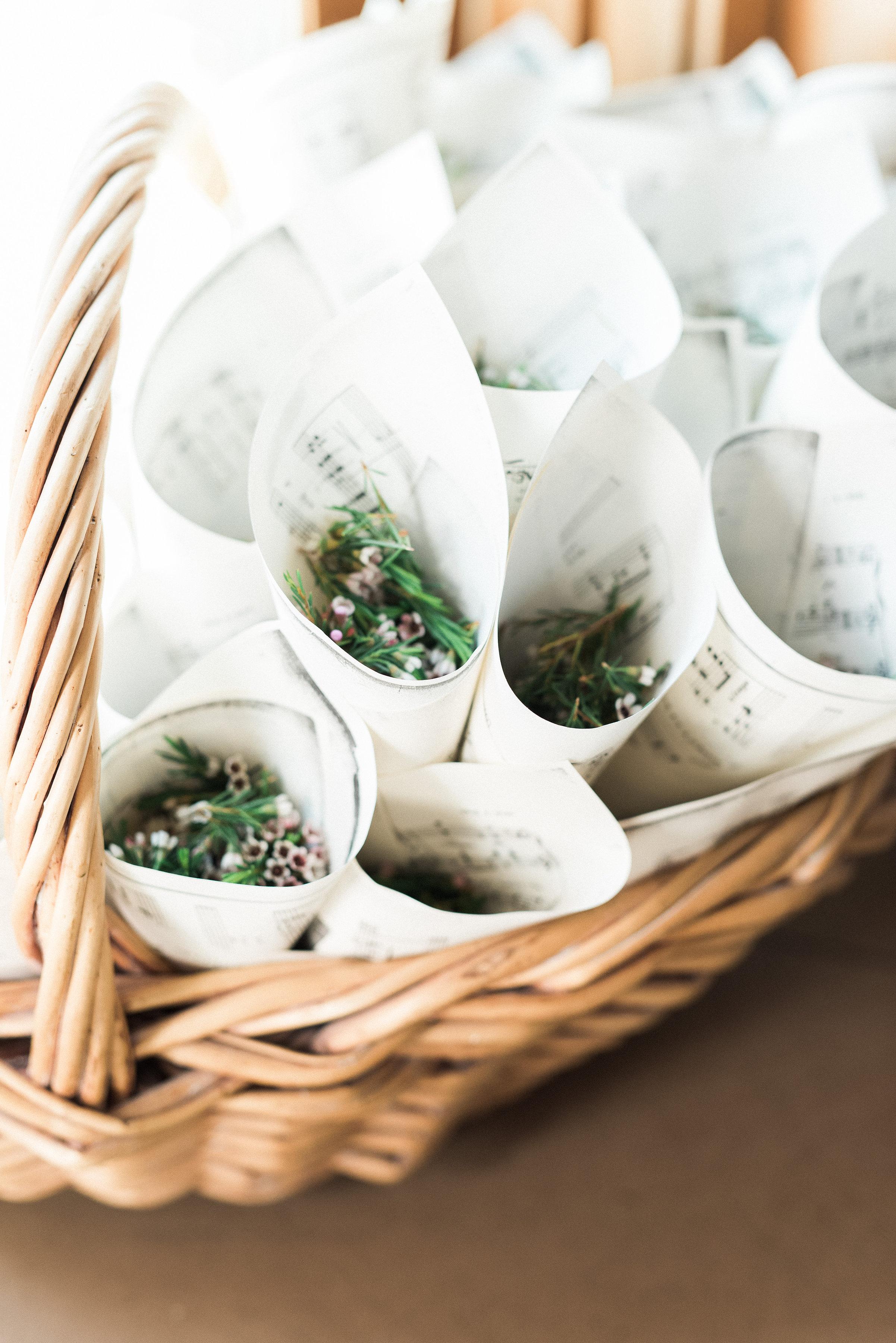Floral Confetti for Bride and Groom's exit // Nashville Wedding Florist at Historic Plantation