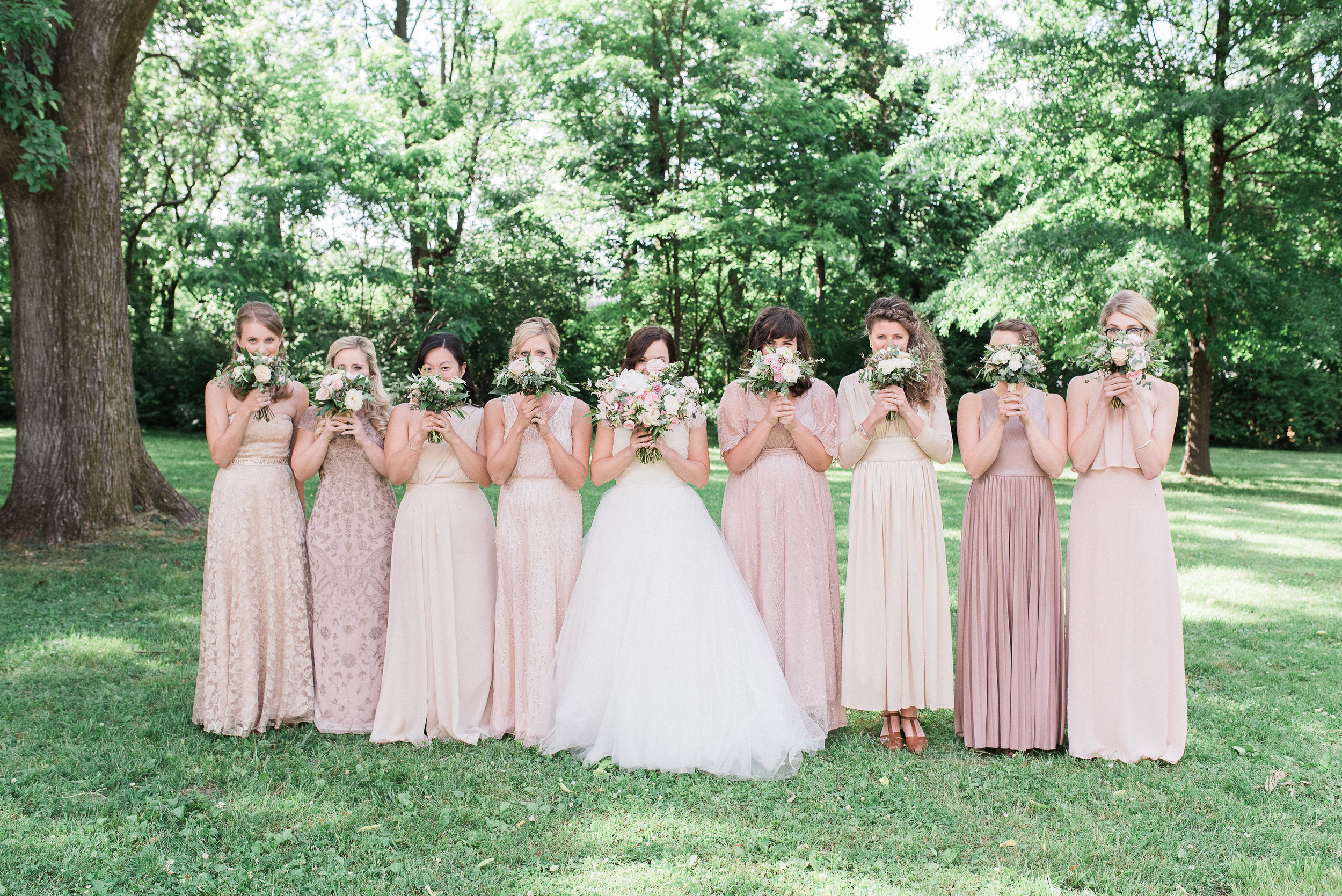 Blush and dusty pink bridesmaid style // Garden Wedding in Nashville, TN