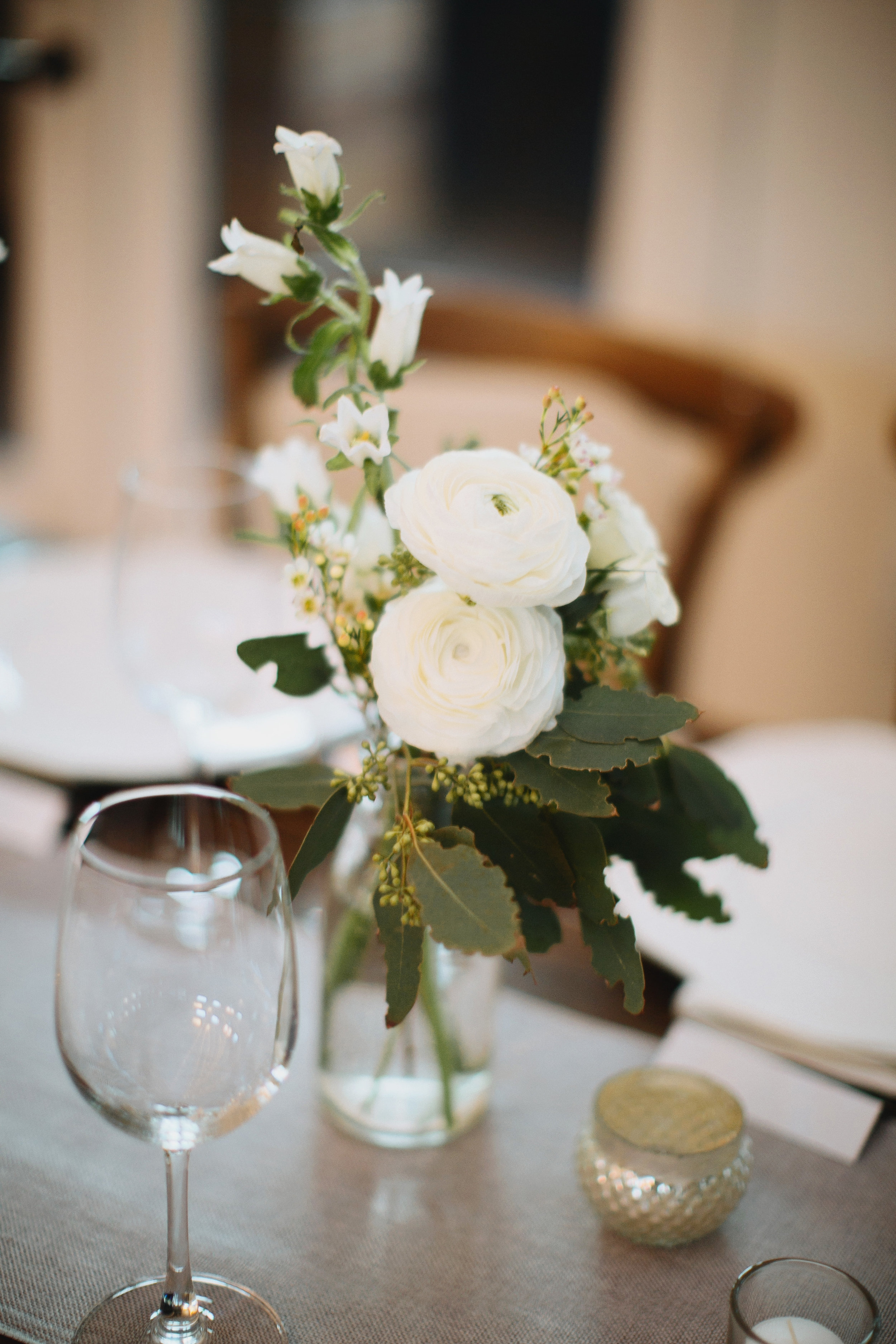 All white flowers with lots of greenery // Nashville Wedding Florist