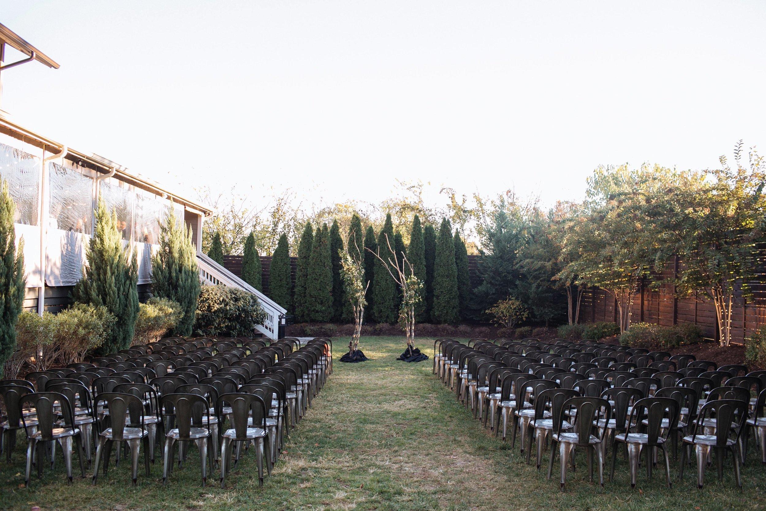 Natural, branchy wedding ceremony backdrop // Rosemary & Finch Floral Design, Nashville TN