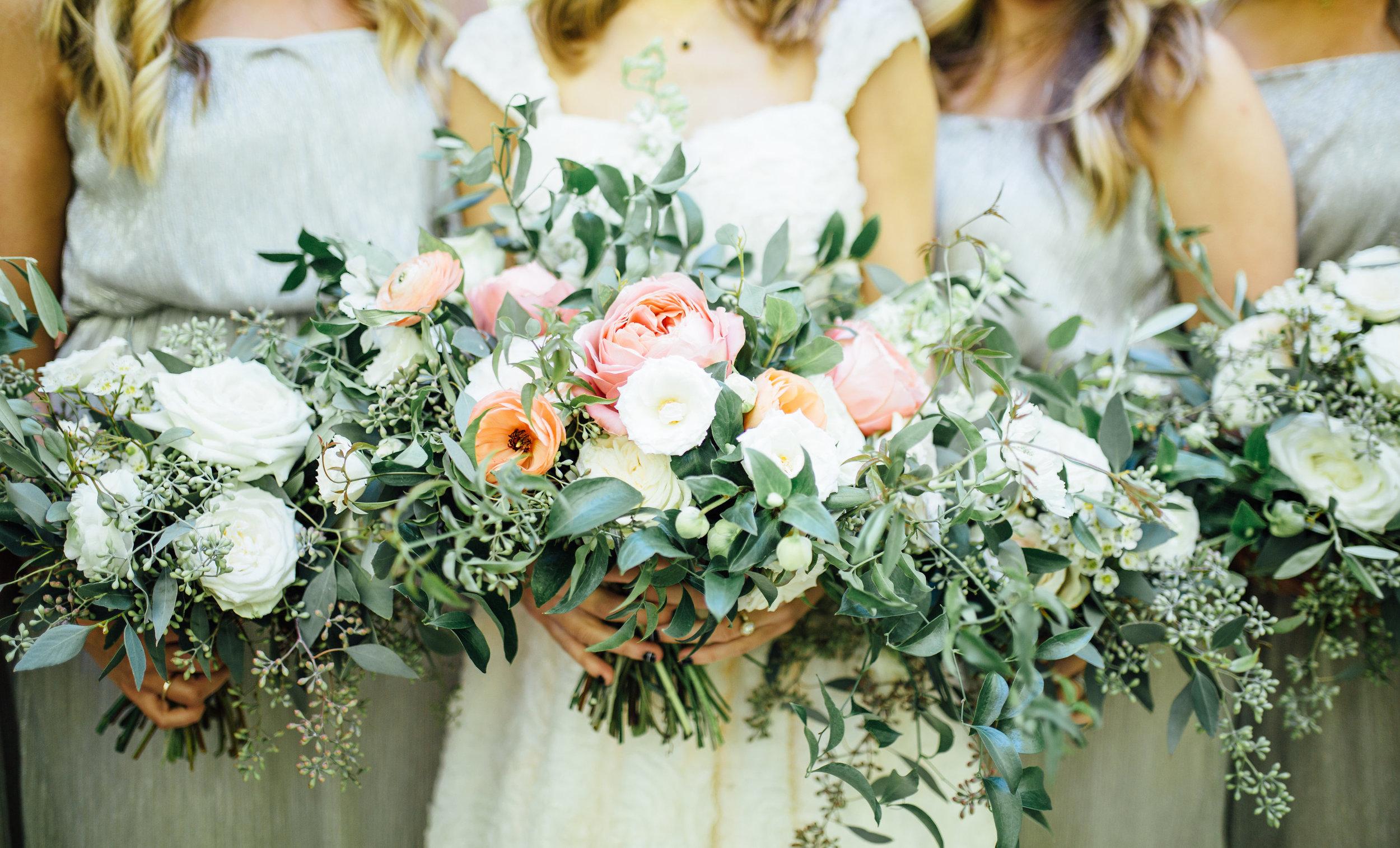 Lush, natural wedding floral design // Southern Florist