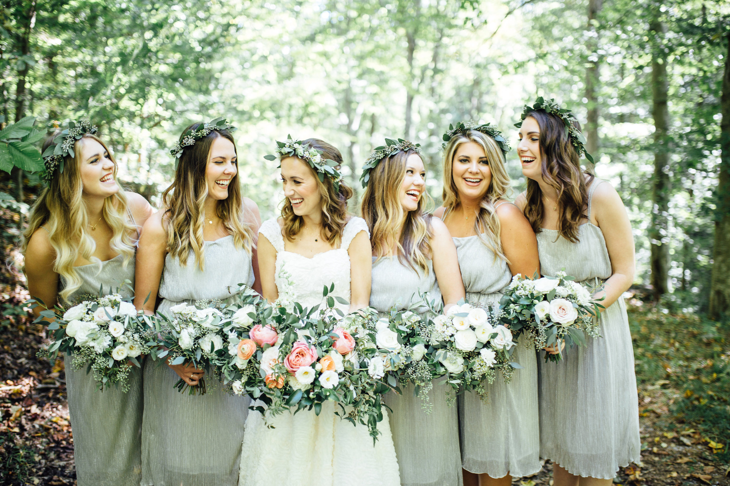 Joyful bride and bridesmaids // Southern Wedding Florist