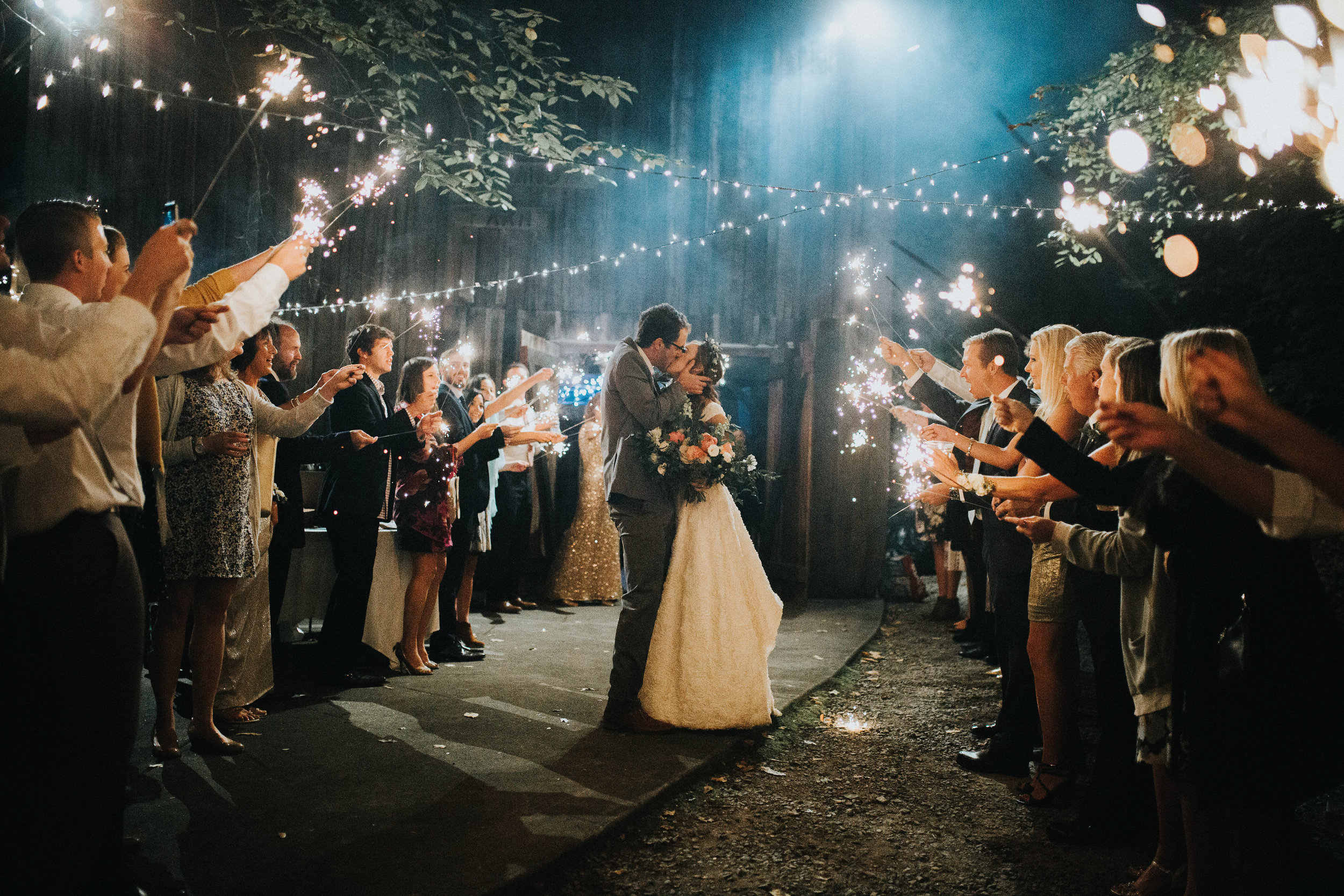 Sparkler Exit // Tennessee Countryside Wedding