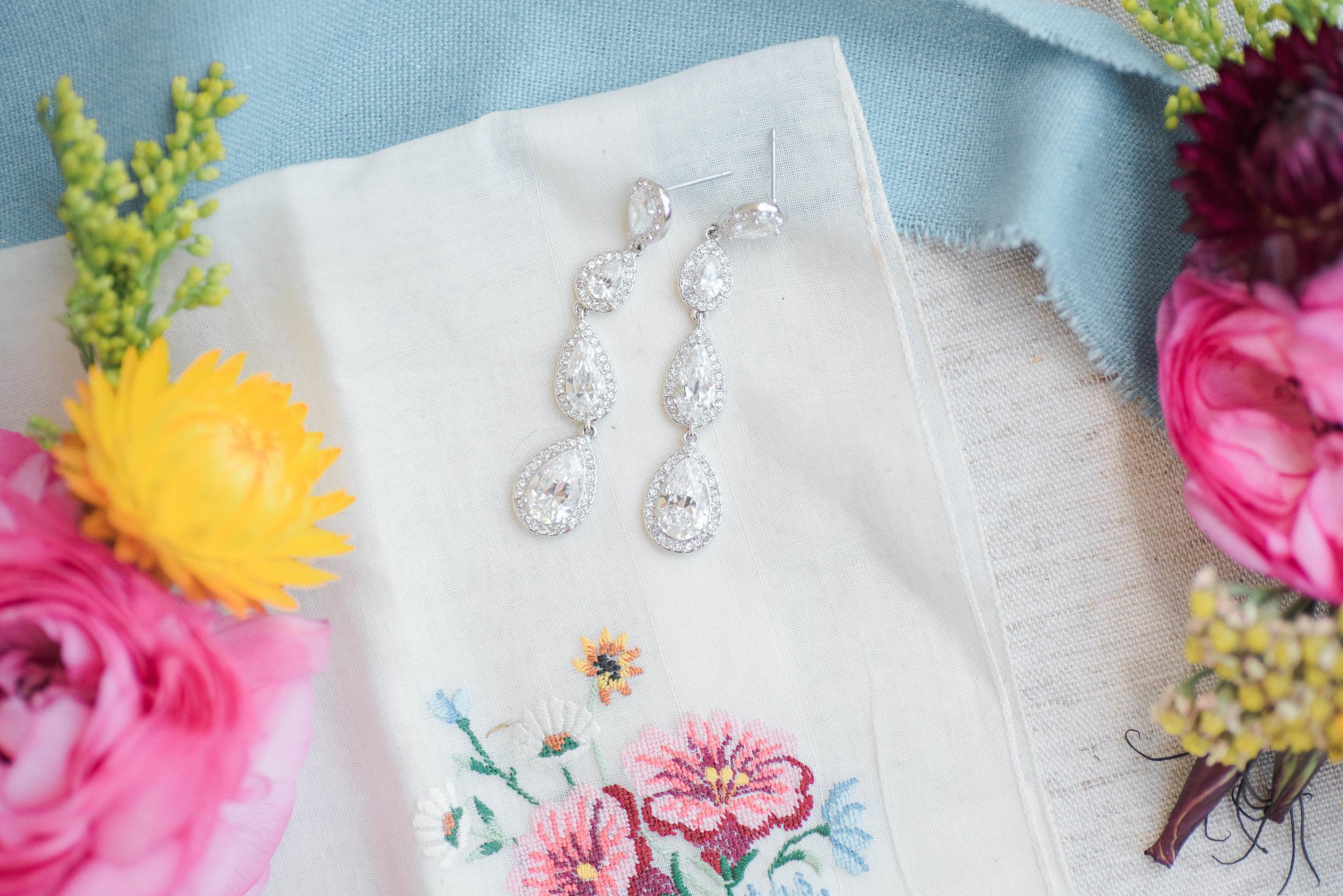 Wedding day jewelry // Nashville Wedding Florist