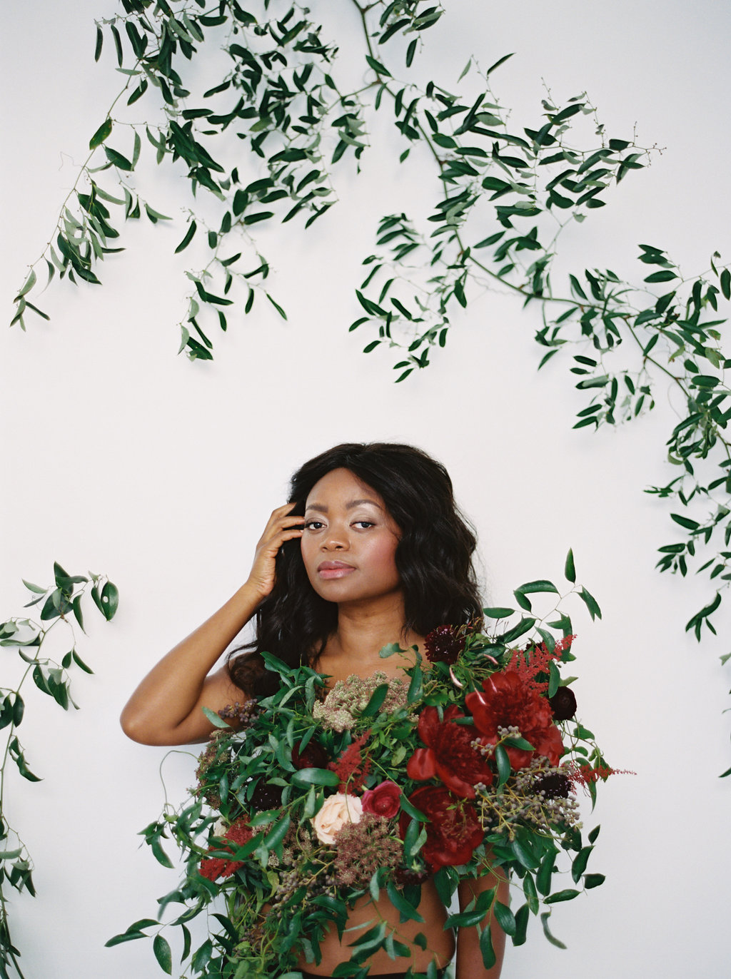 Wearing Flowers // Greenery wine installation // Southeastern Wedding Florist