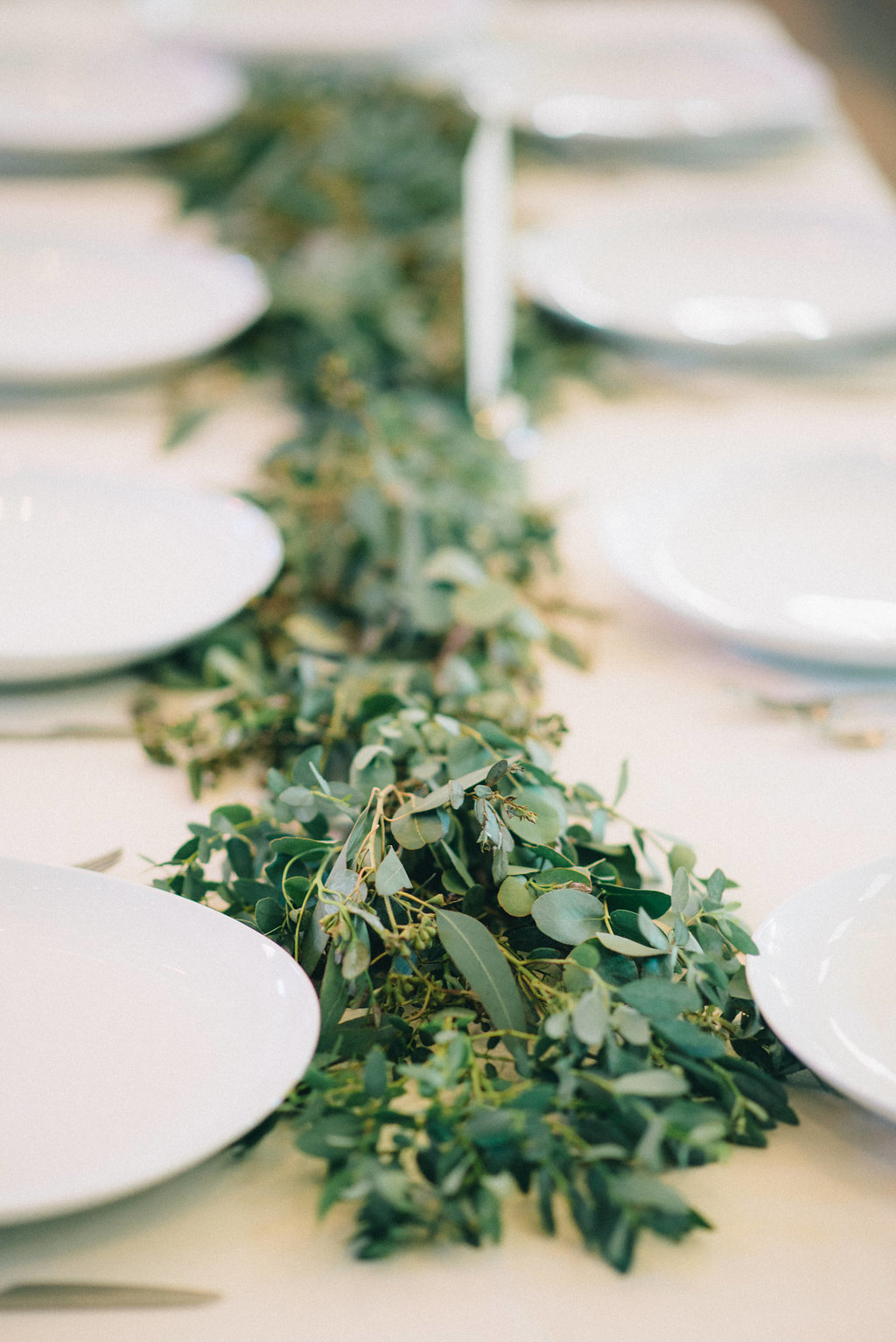 Lush eucalyptus garland // Southeastern Wedding Floral Design