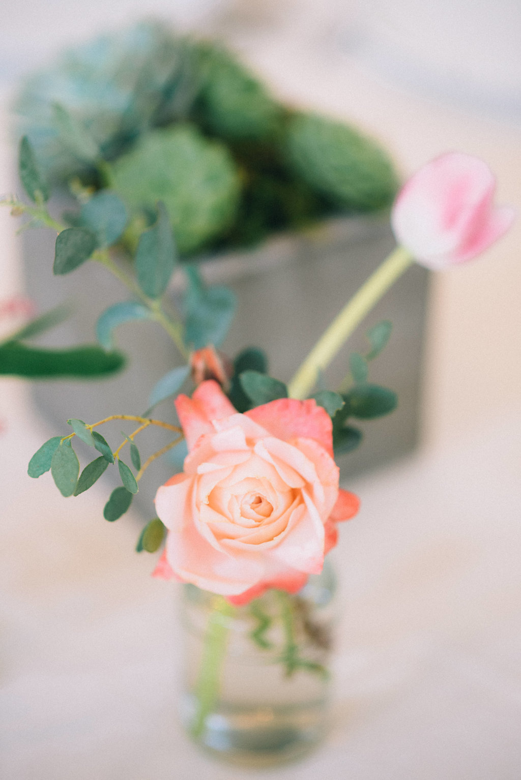 California garden rose centerpiece // Southeastern Wedding Florist