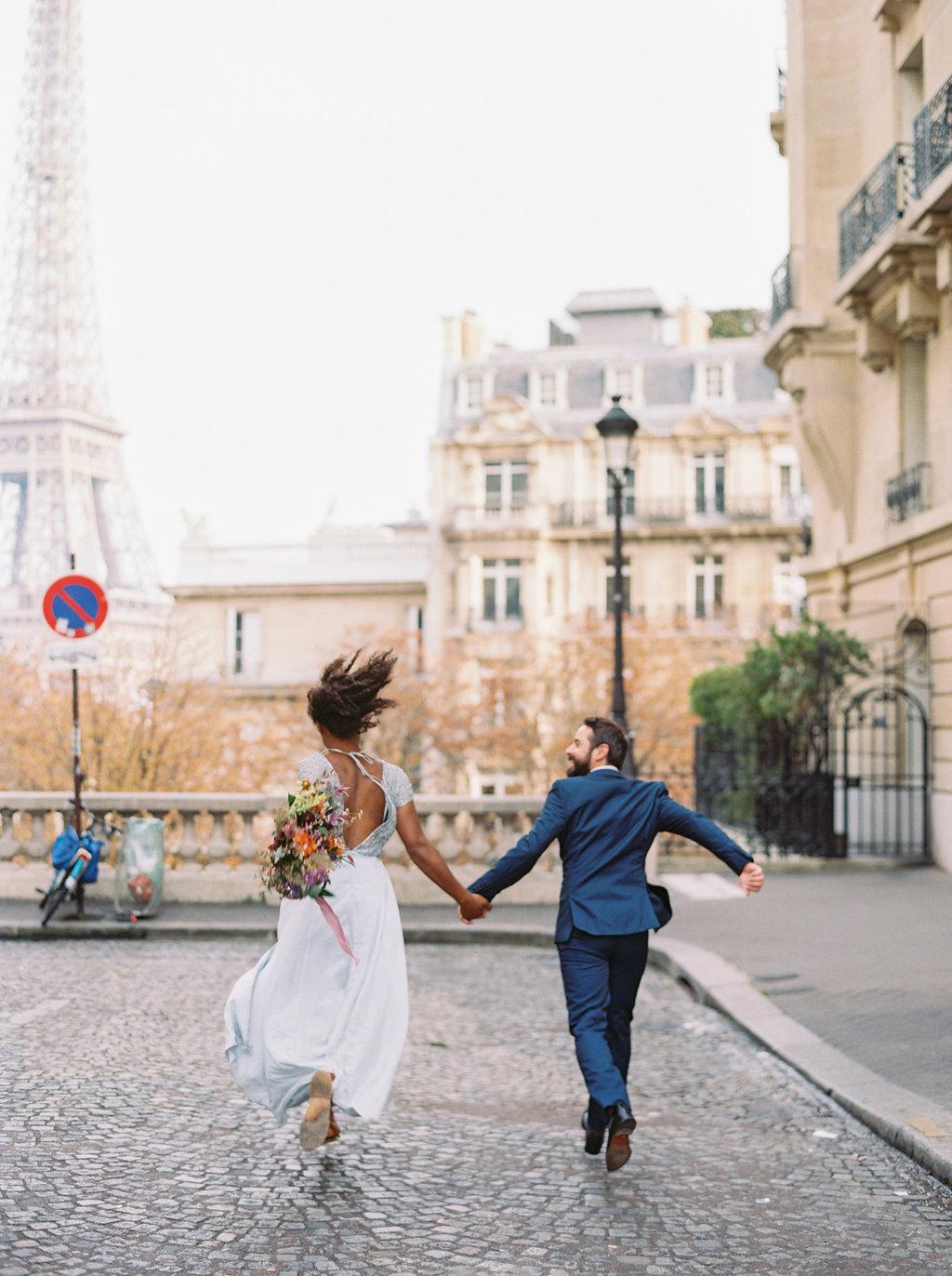 Intimate Paris Elopment--Natural, loose wedding floral design
