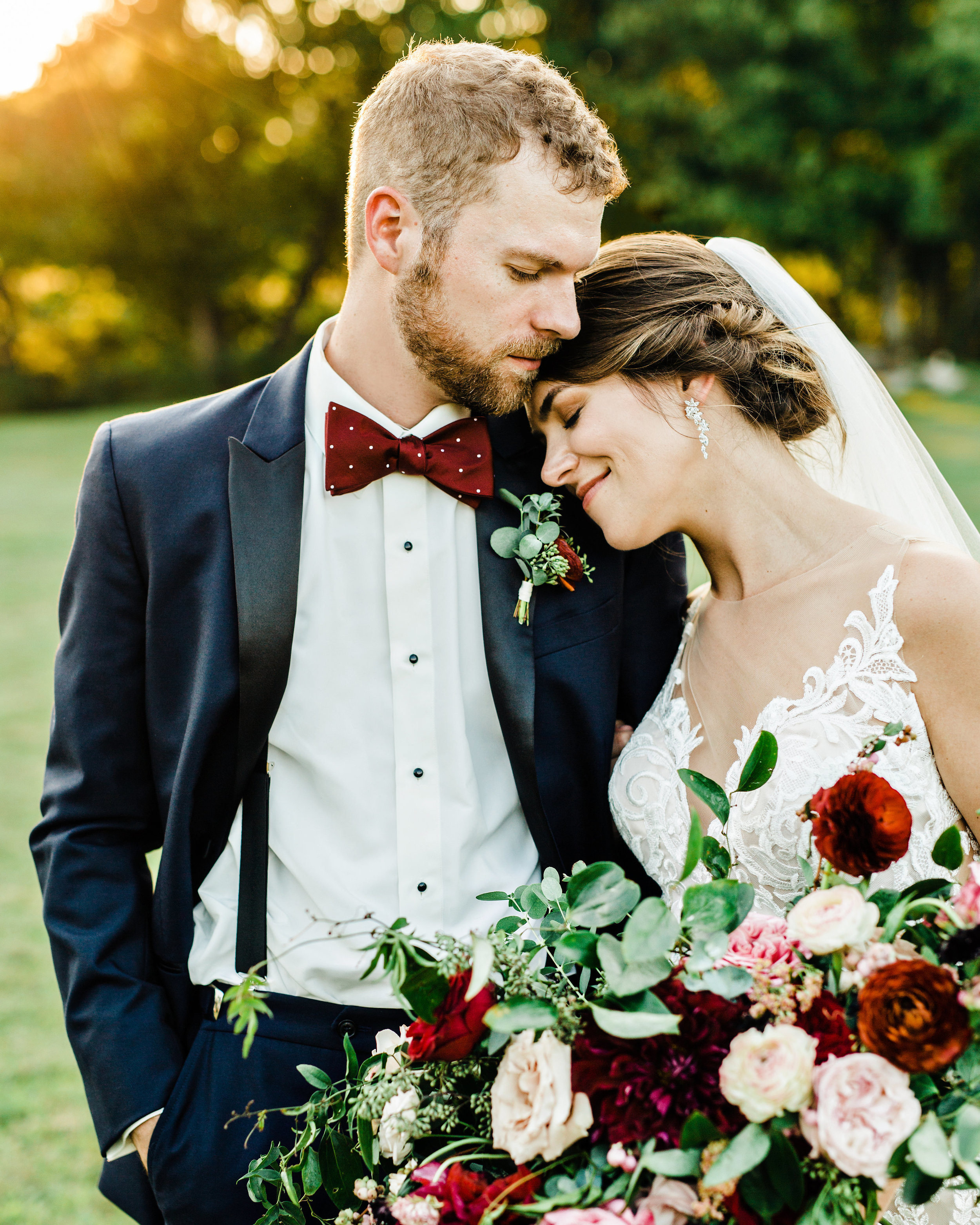 Marsala, burgundy, and blush bridal bouquet with lots of loose greenery // Nashville Wedding Florist