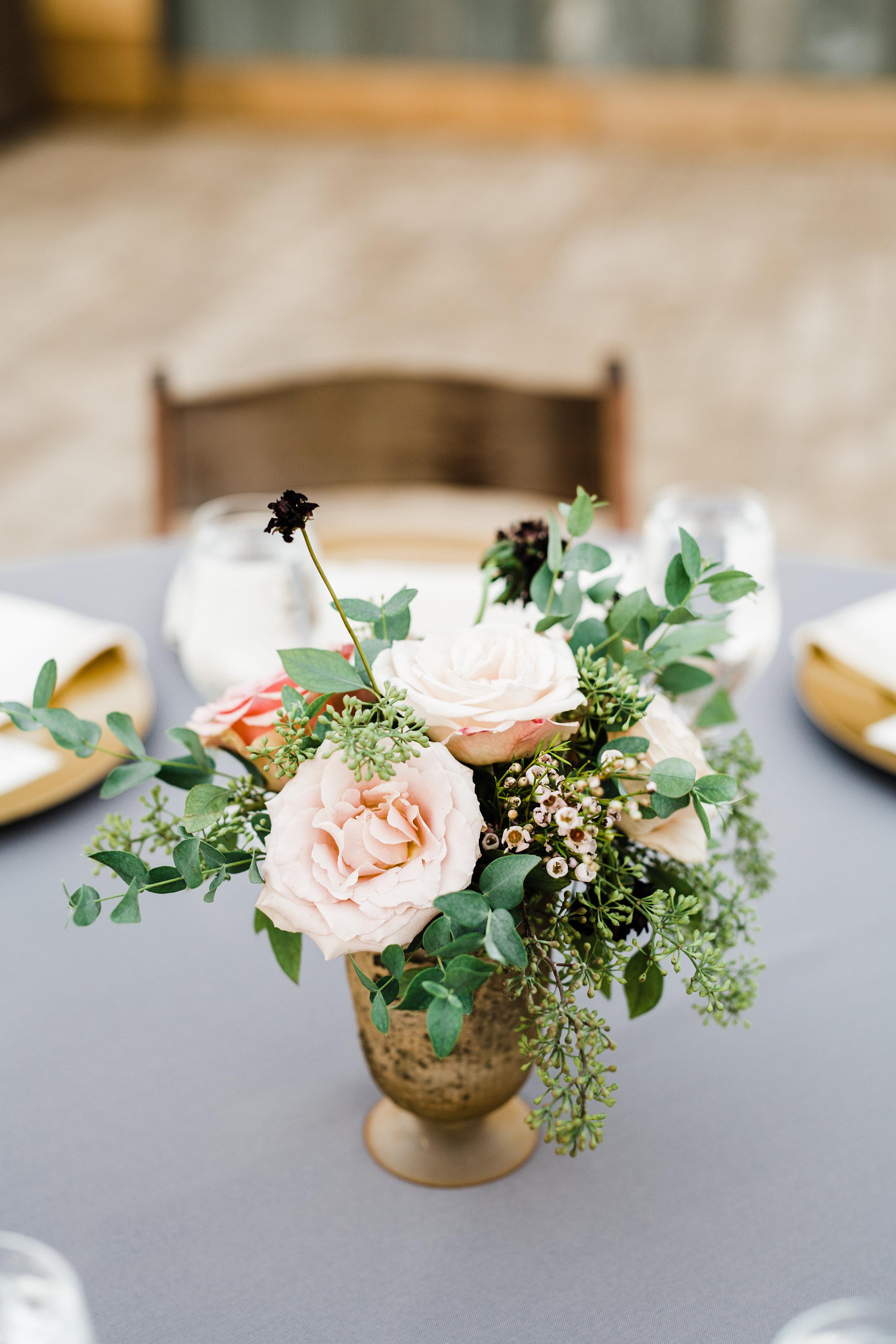 Greenhouse Wedding Reception in Nashville // Natural Floral Design
