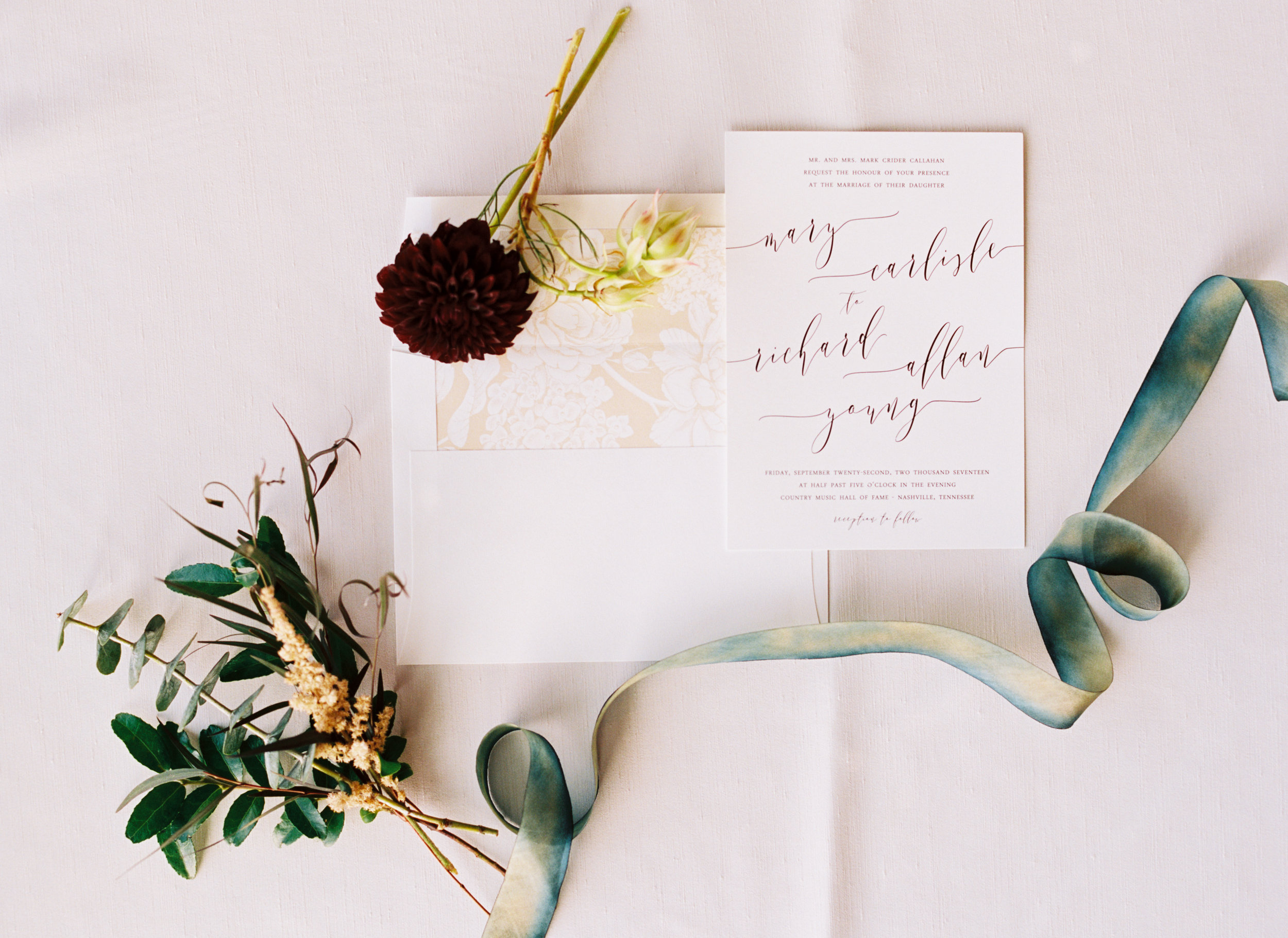 Invitation Suite // Country Music Hall of Fame Wedding