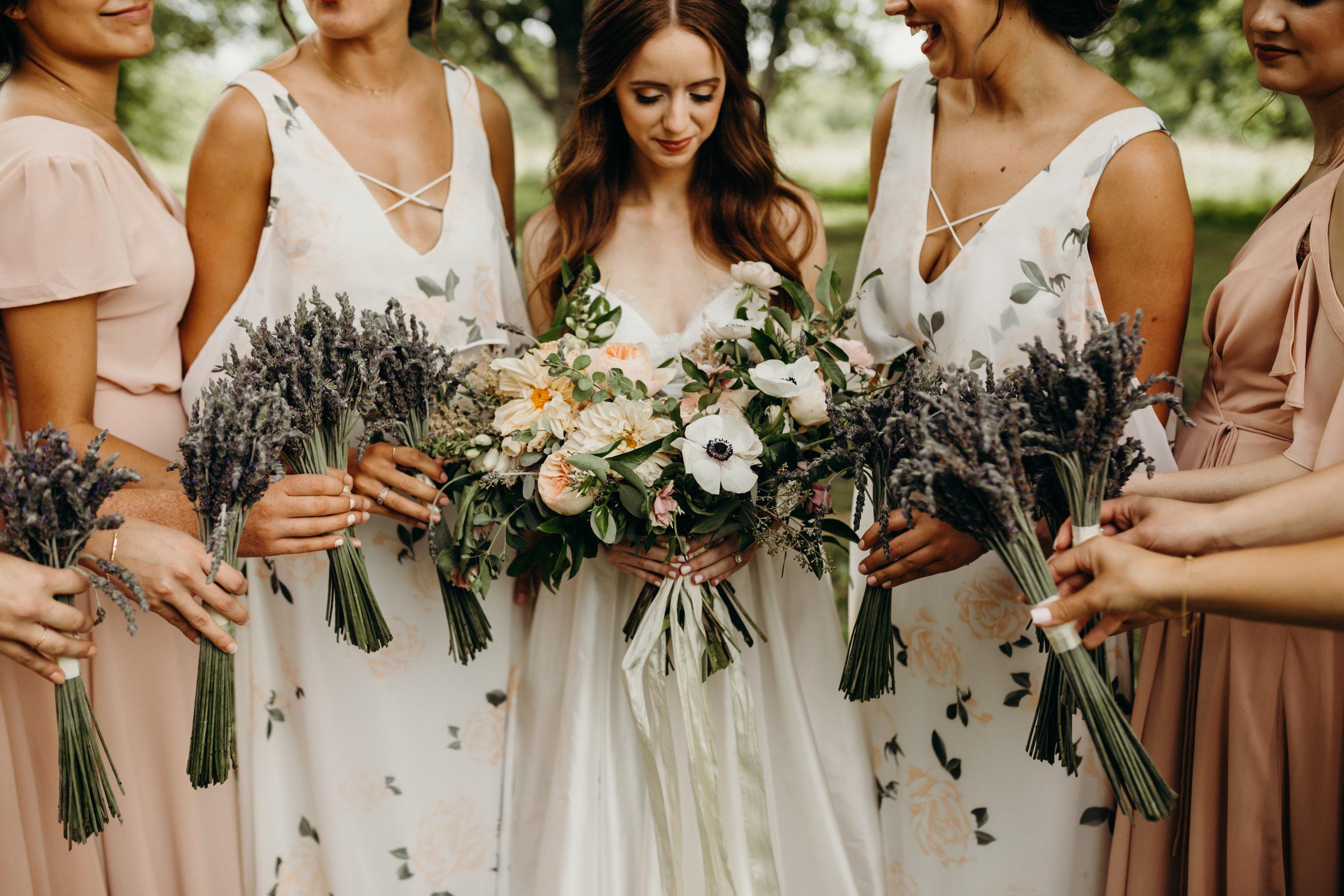 Lavender bridesmaid bouquets // Nashville Wedding Floral Design