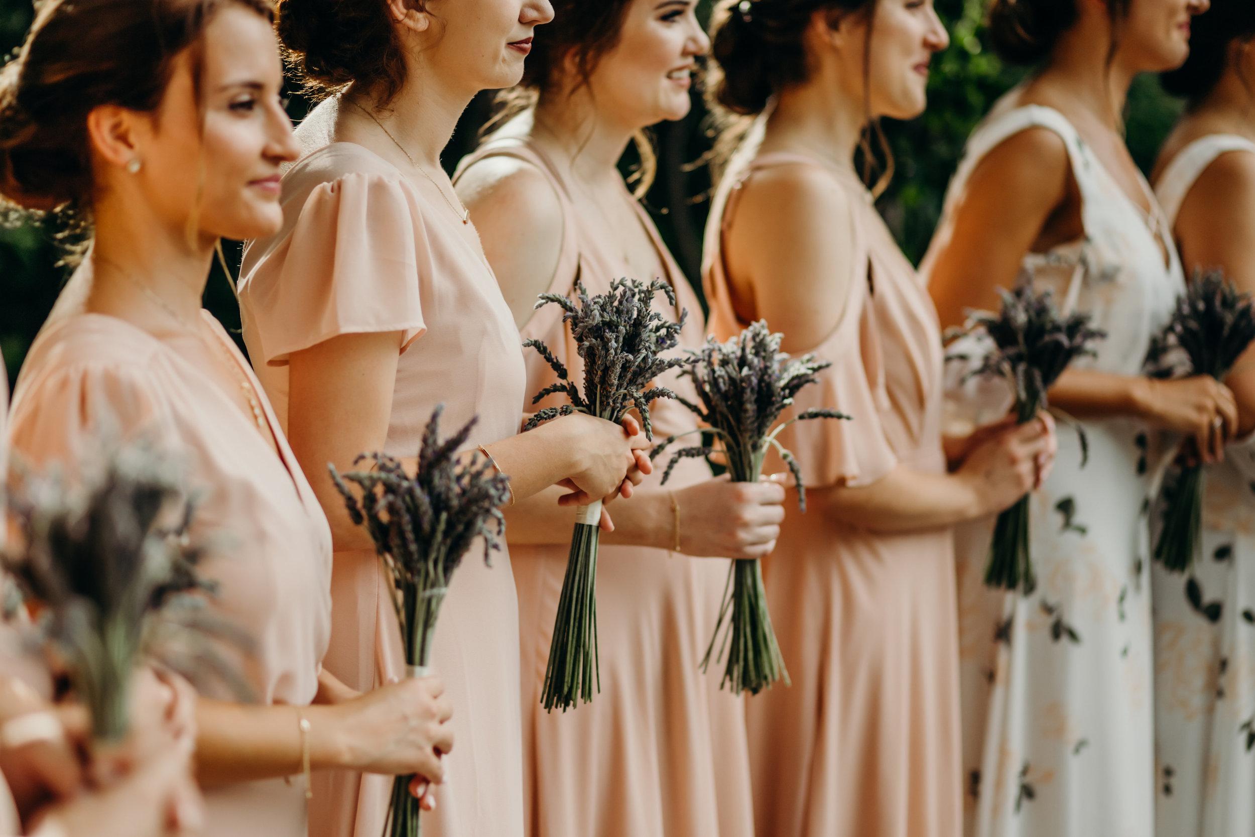 Lavender bridesmaid bouquets // Nashville Wedding Florist