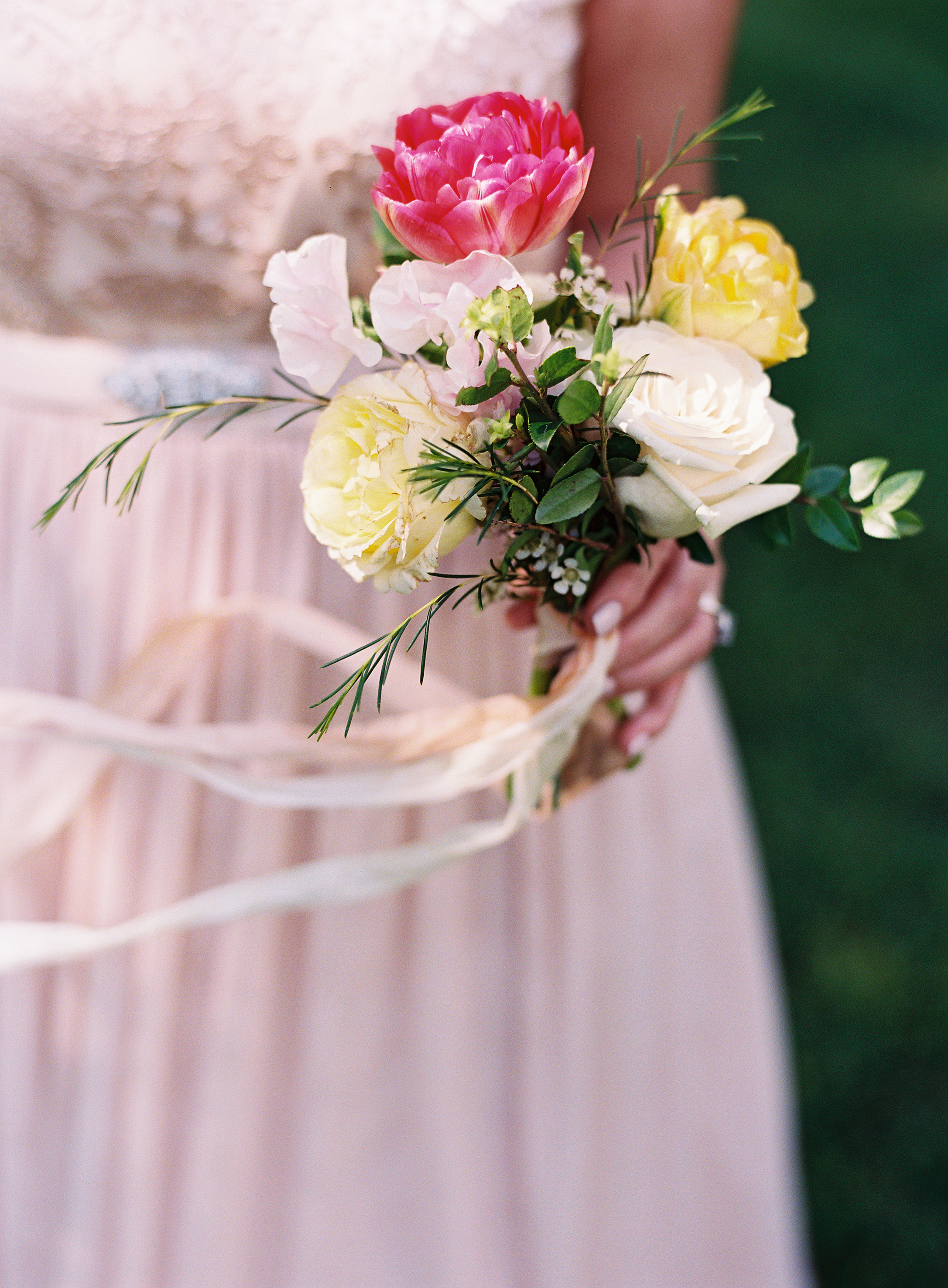 Dainty posey for the mother of the bride // Nashville Wedding Florist