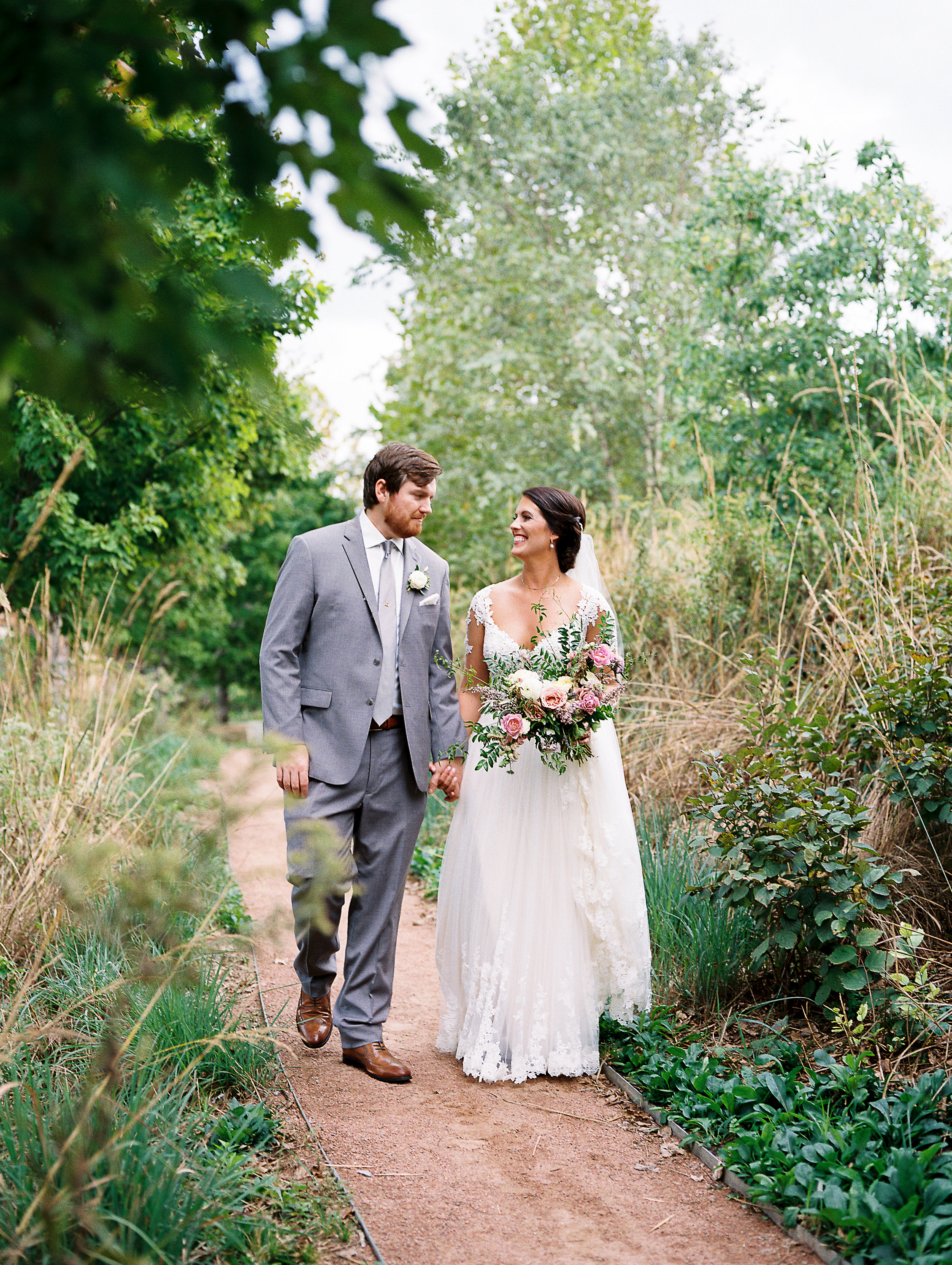 Lush, organic floral design in shades of lavender // Nashville Wedding Florist