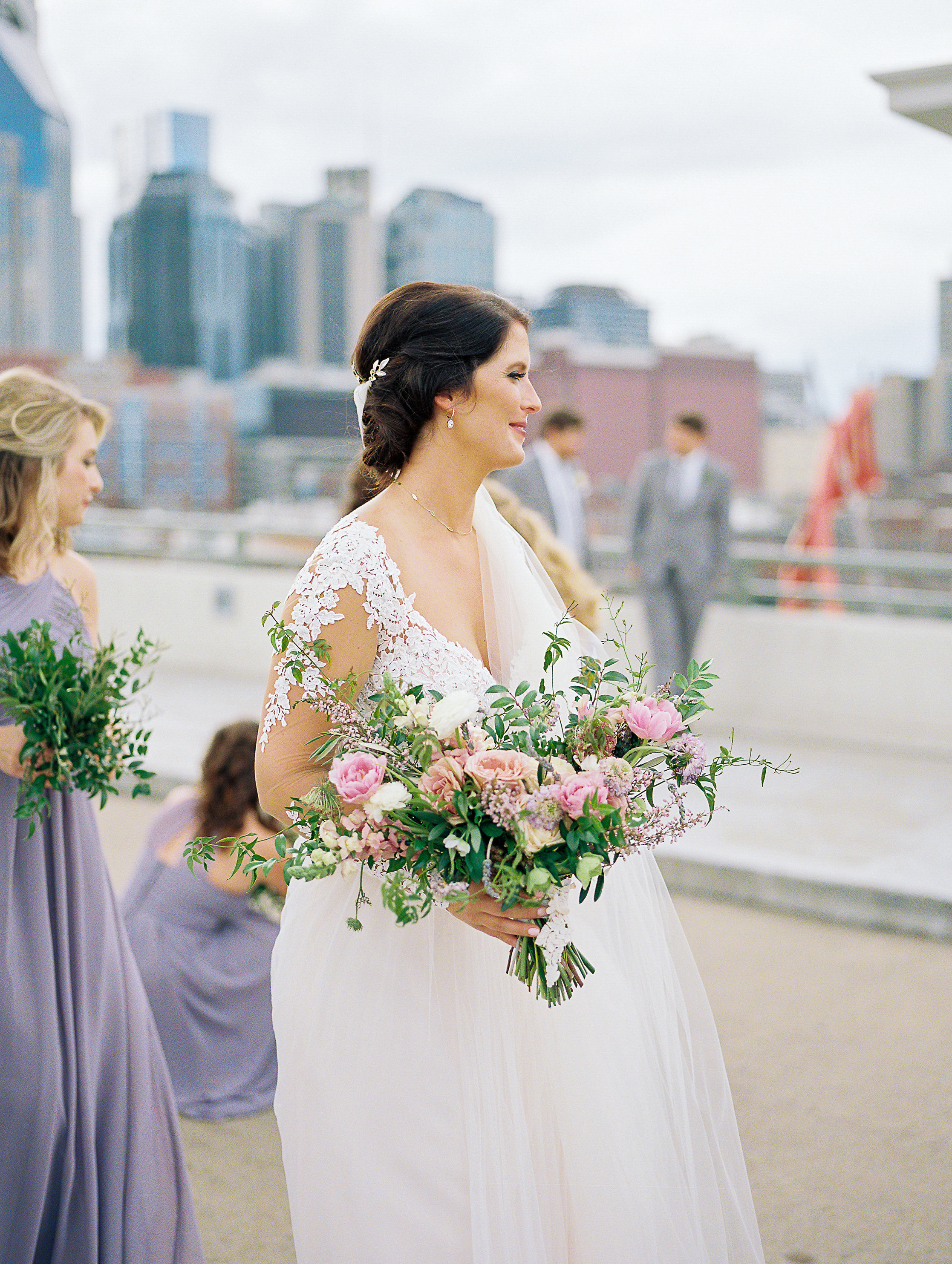 Downtown Nashville Wedding Floral Design at Cannery One