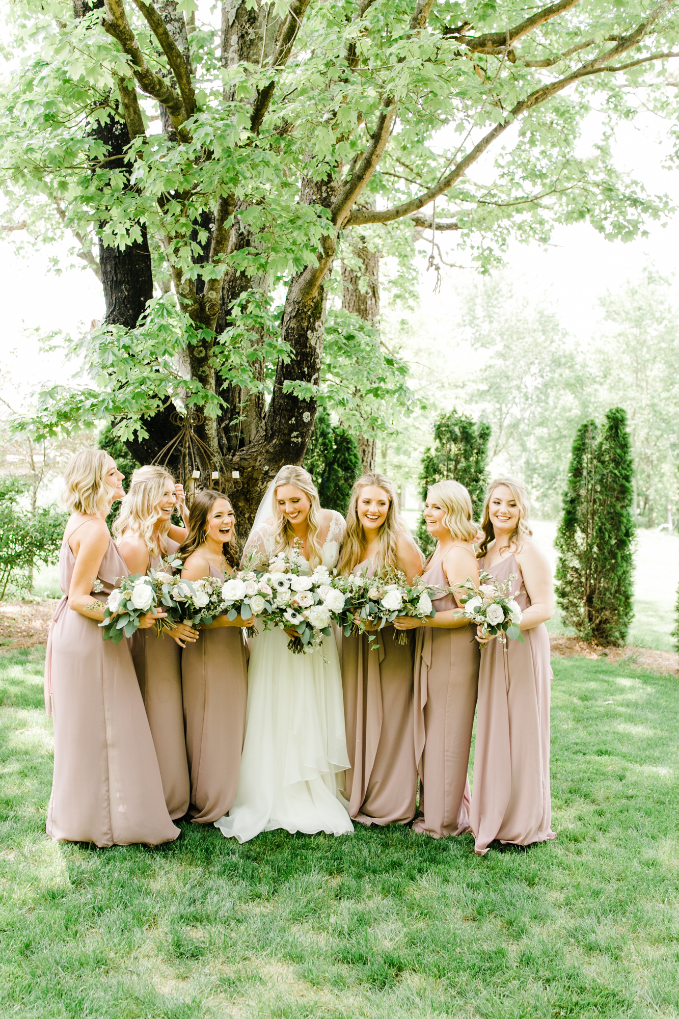 Blush and white bridesmaid style // Natural Floral Design in Tennessee