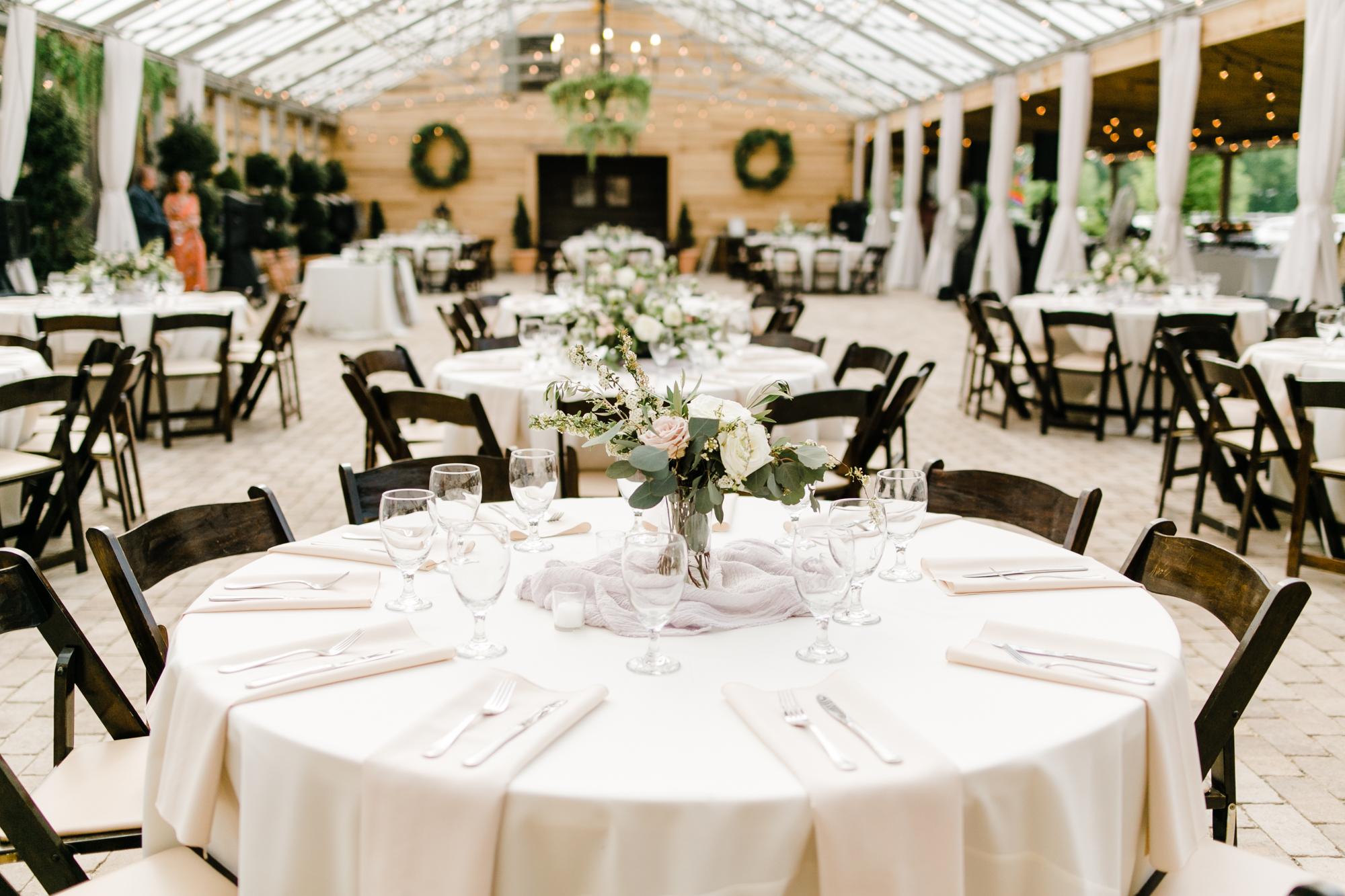 Greenhouse wedding reception // Nashville Wedding Florist