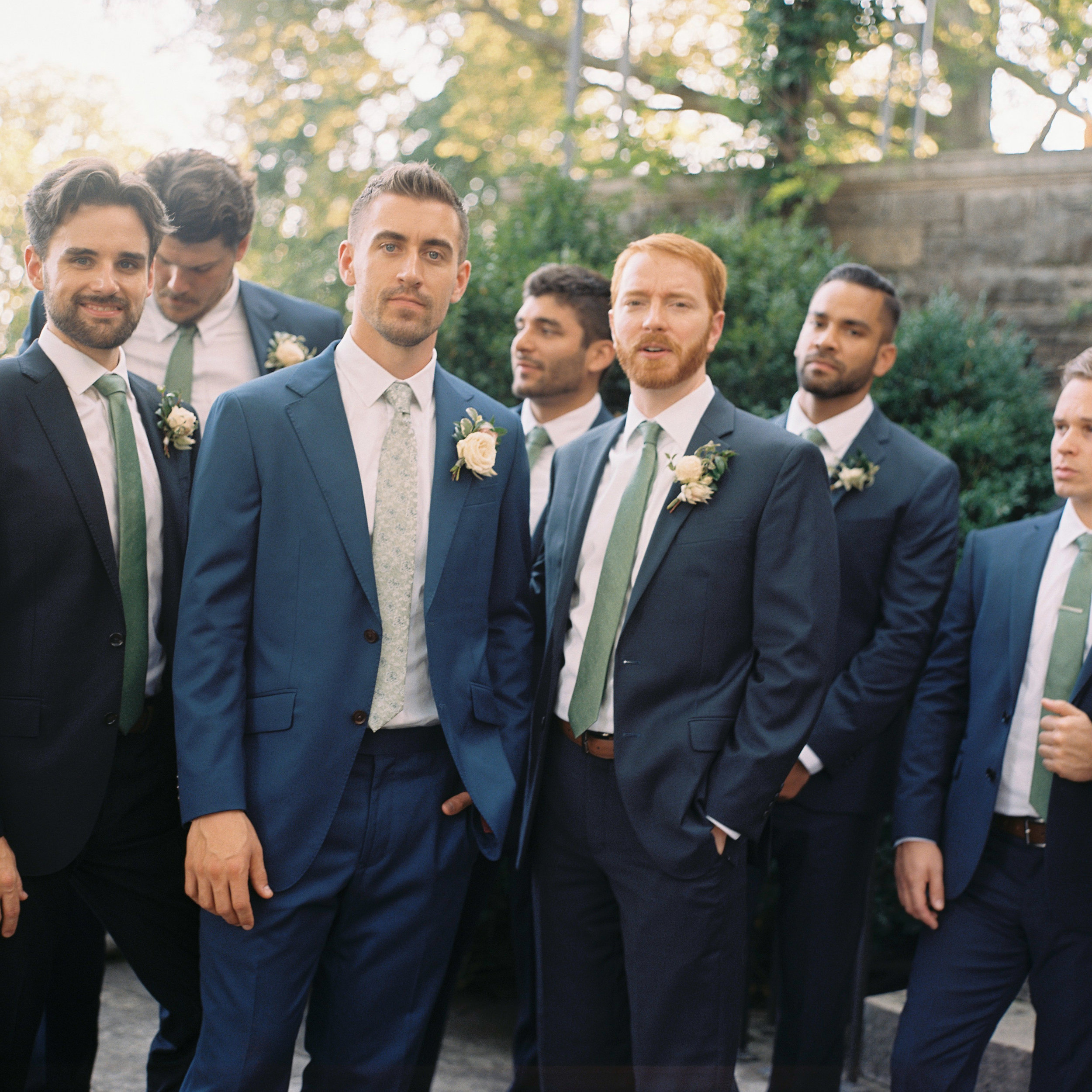 Groomsmen / Nashville Wedding Flowers at Cheekwood Botanical Gardens