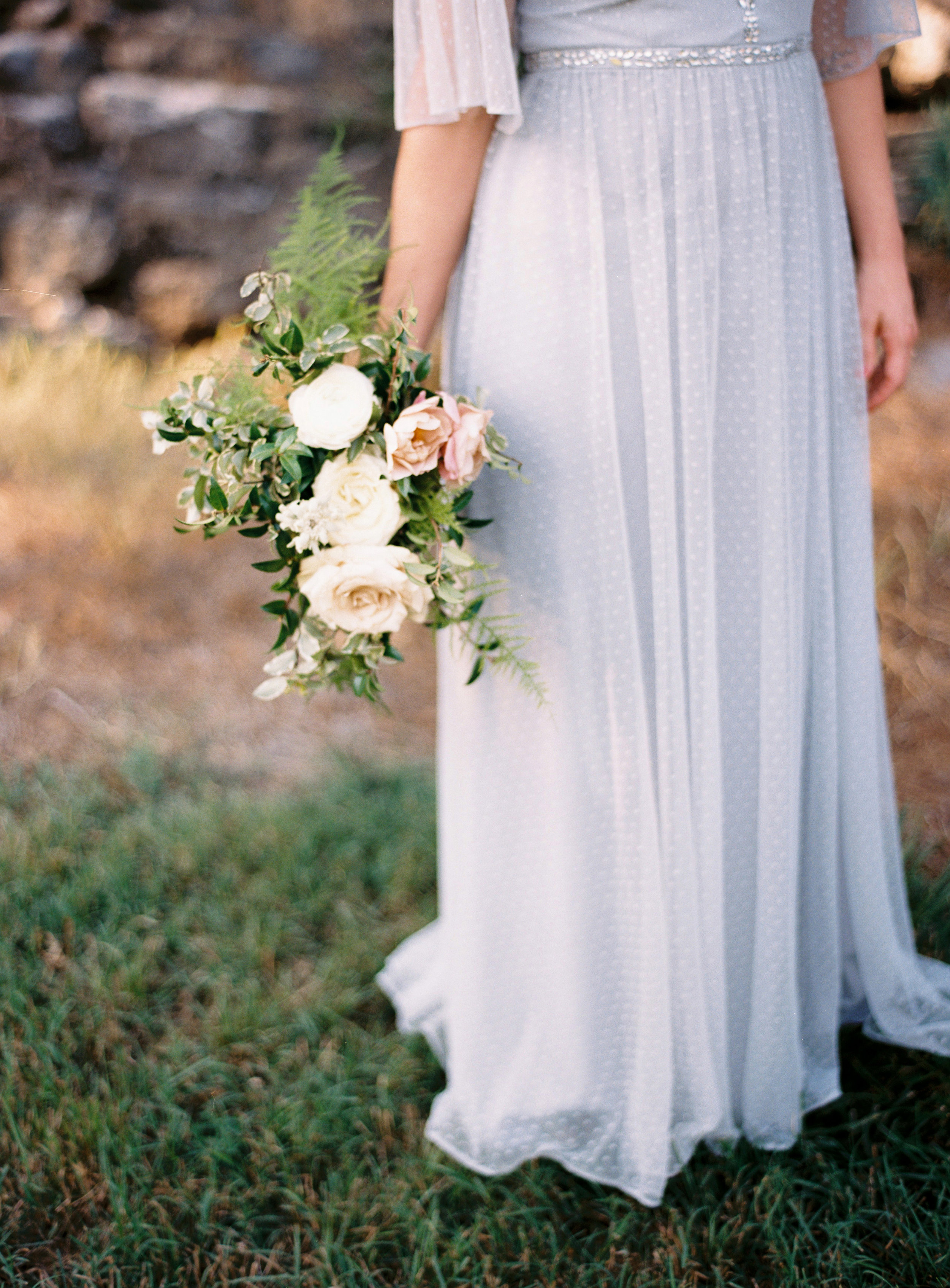 Natural, garden-esque bridesmaid bouquet // Nashville Wedding Florist
