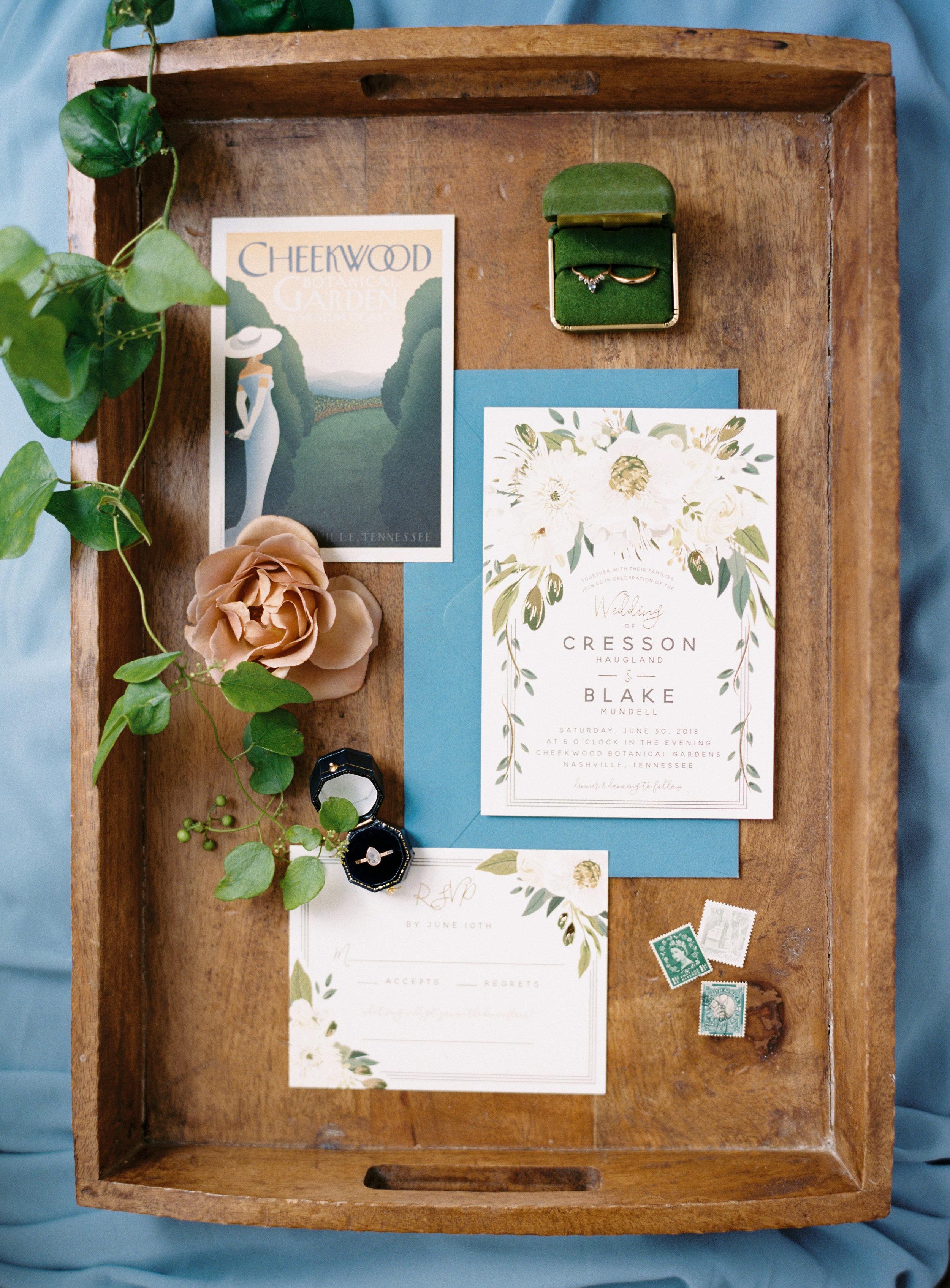 Invitation Suite // Nashville Wedding Florist