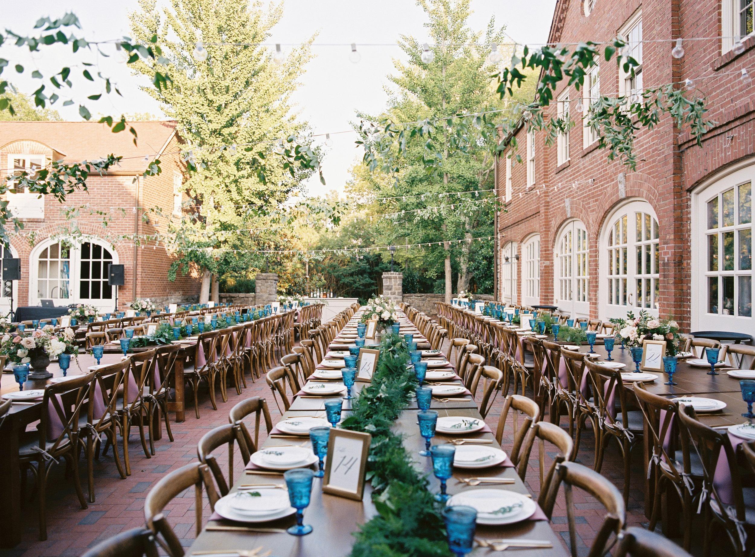 Garden inspired wedding reception // Nashville, Tennessee Floral Designer