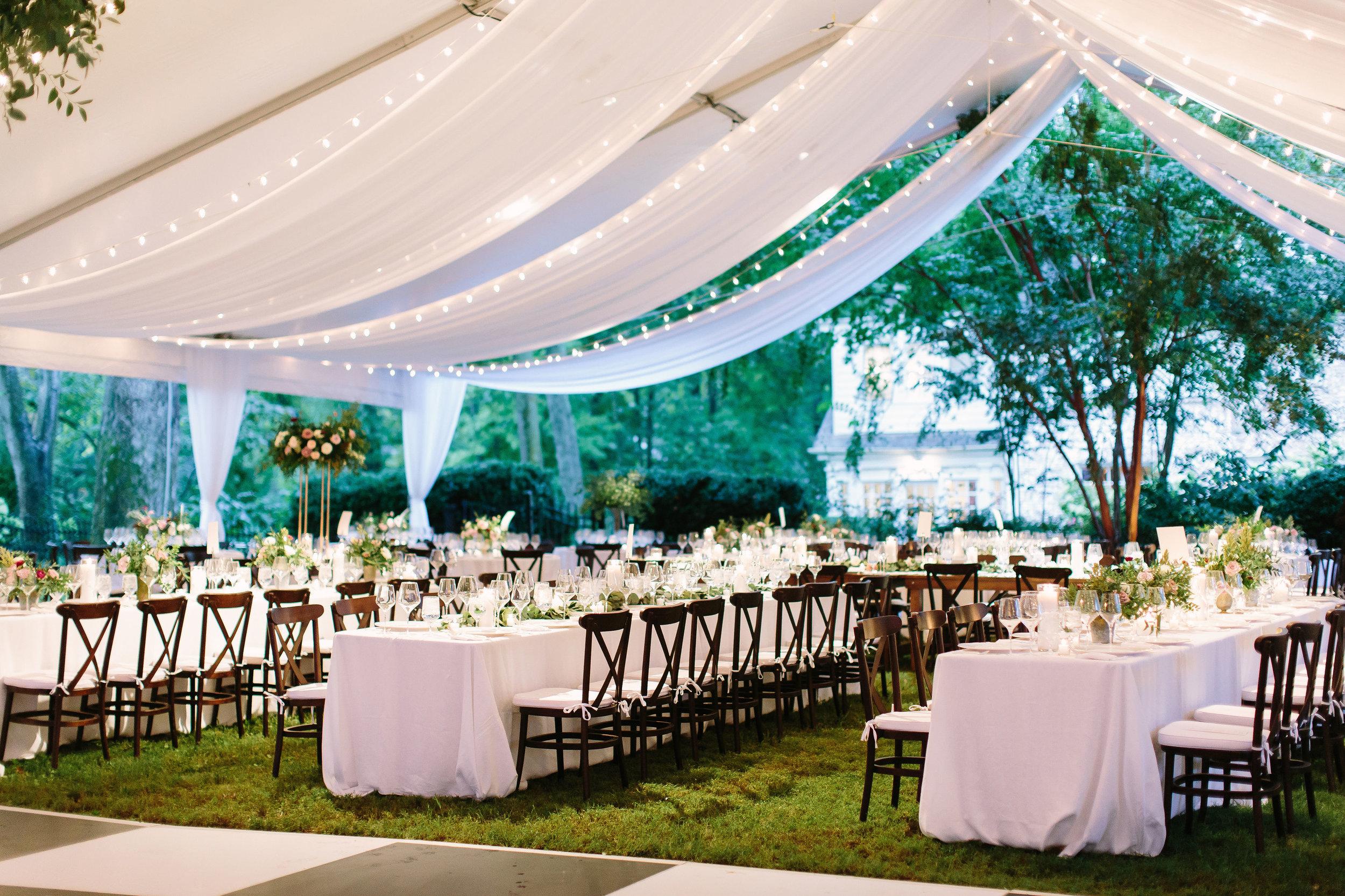 Tented backyard wedding // Belle Meade Wedding Floral Design