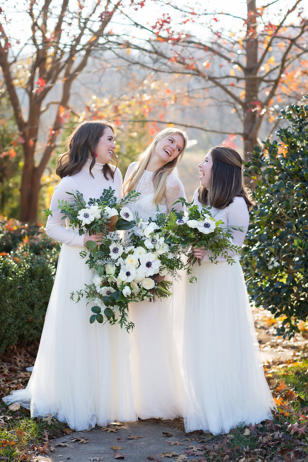 Winter Wedding at Blackberry Farm with all white and greenery florals // Southern Floral Design