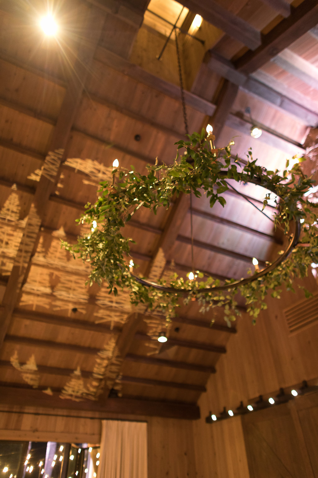 Natural greenery chandelier // Rosemary & Finch Floral Design in Nashville, TN
