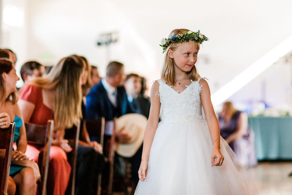 Dainty flower girl crown // Nashville Wedding Floral Designer