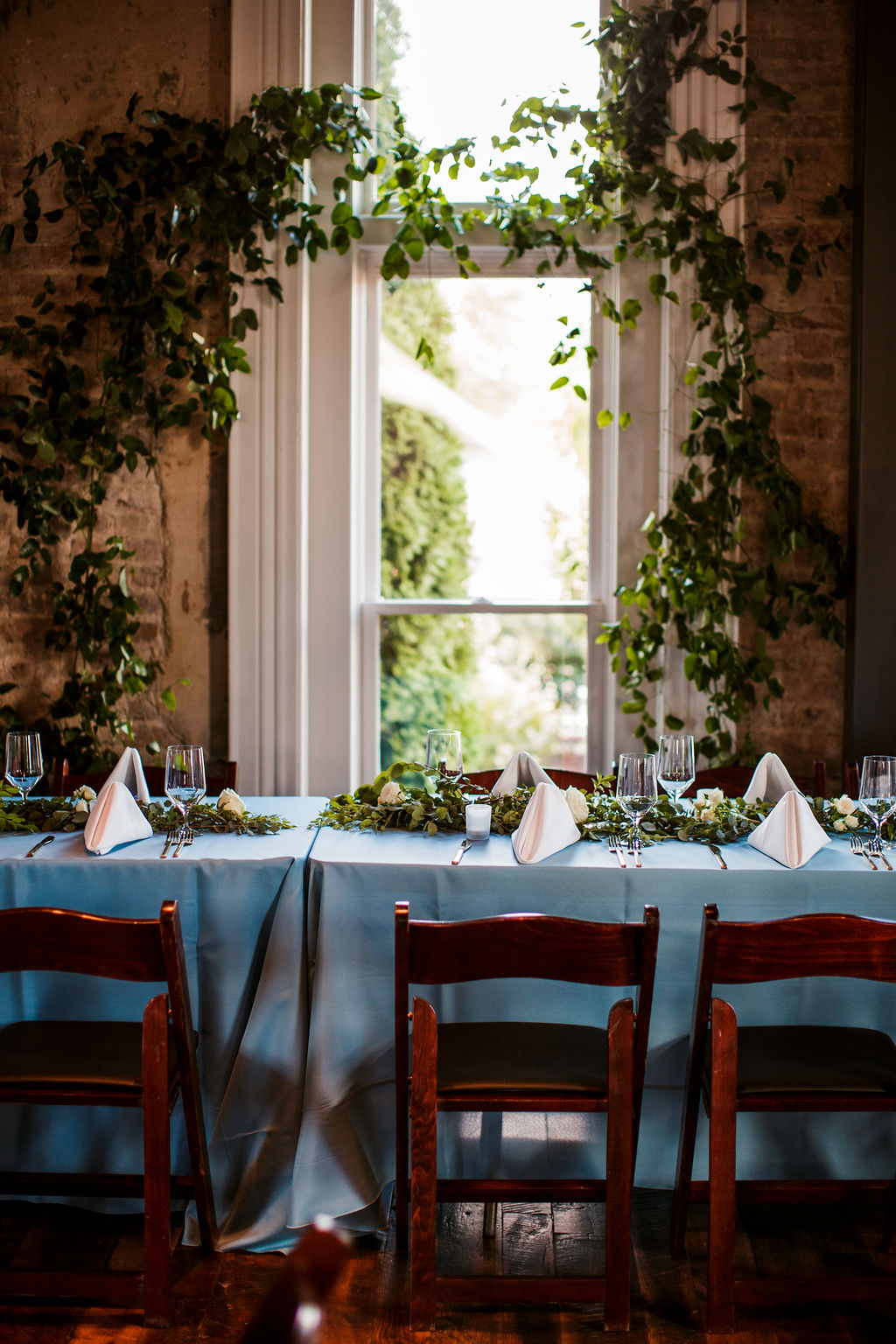 Lush greenery installation at the Cordelle // Nashville Wedding Floral Design