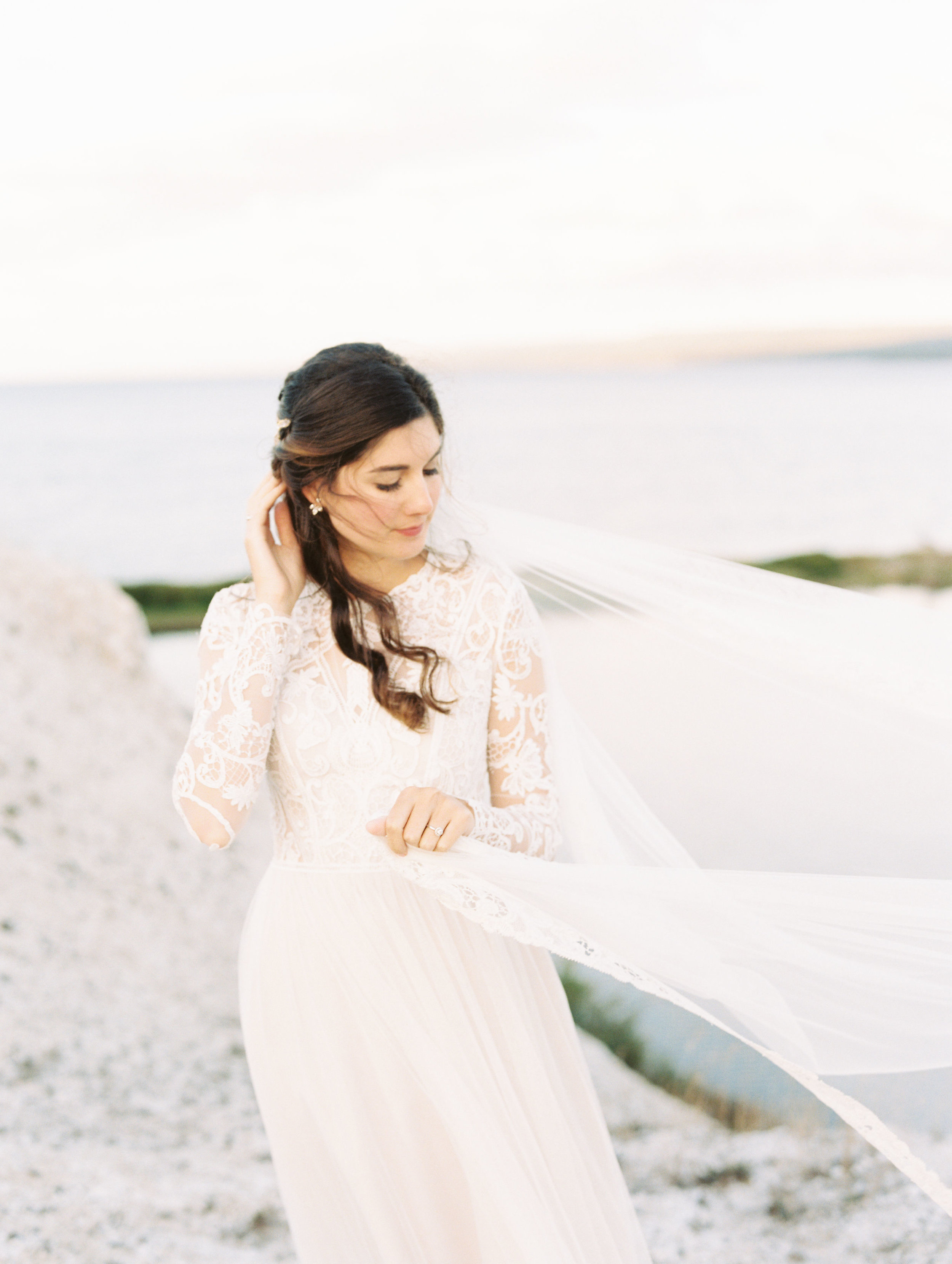 Romantic, ethereal wedding on Cape Breton, Nova Scotia. Destination Wedding Floral Designer