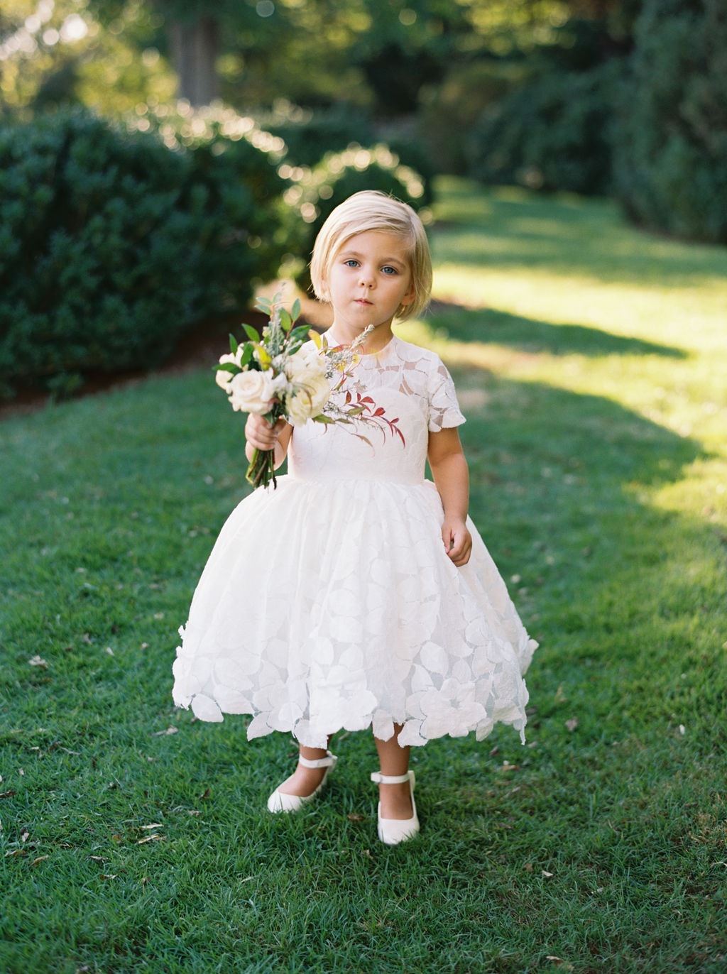 Dainty posey for the flower girl. Nashville Wedding Florist.