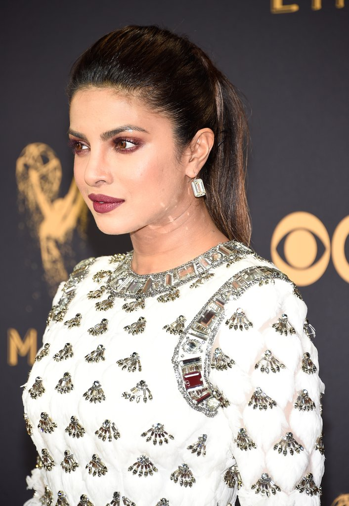 Priyanka Chopra was adorned in over $7 million worth of Lorraine Schwartz diamonds,including 62-carat emerald cut diamond earrings and a 16.5-carat diamond ring.