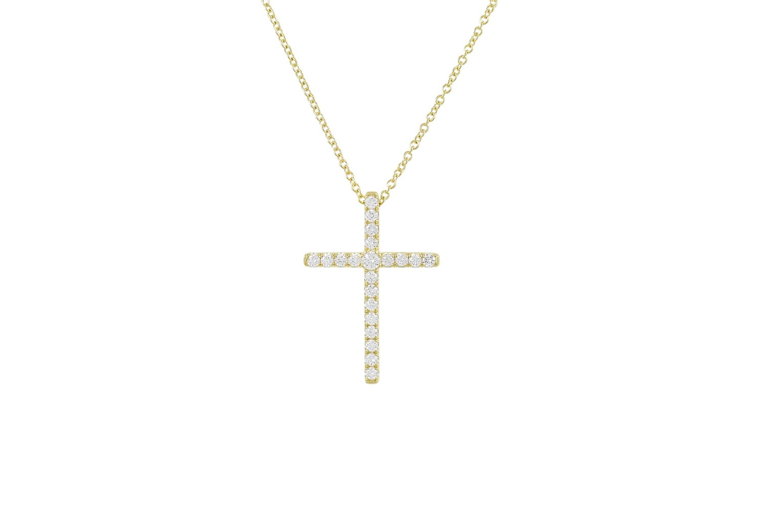 Shop our Diamond Cross Necklaces - Small, Medium, and Large Sizes Available