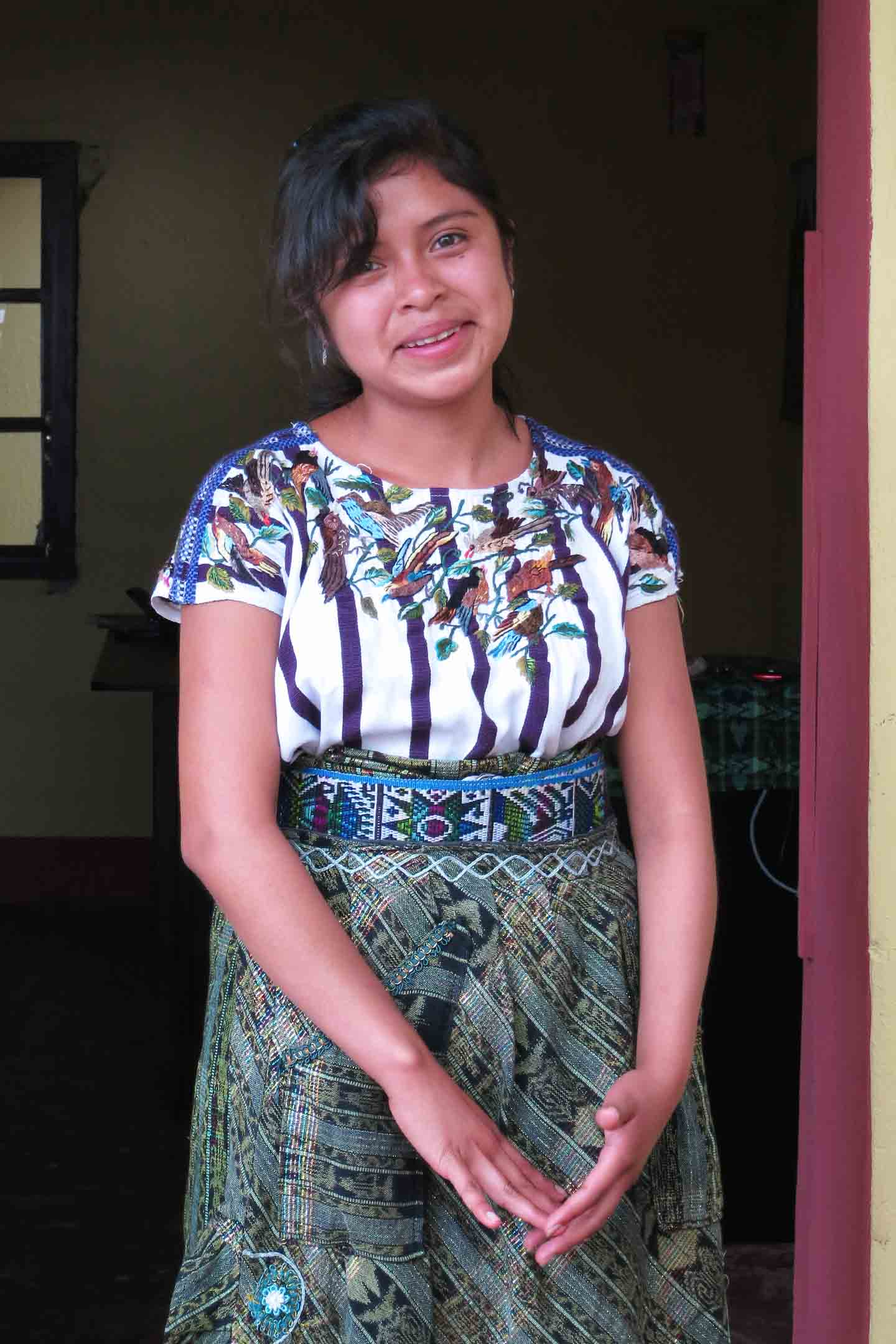 Lidia Micaela Ujpan is 16 and dreams of being a teacher