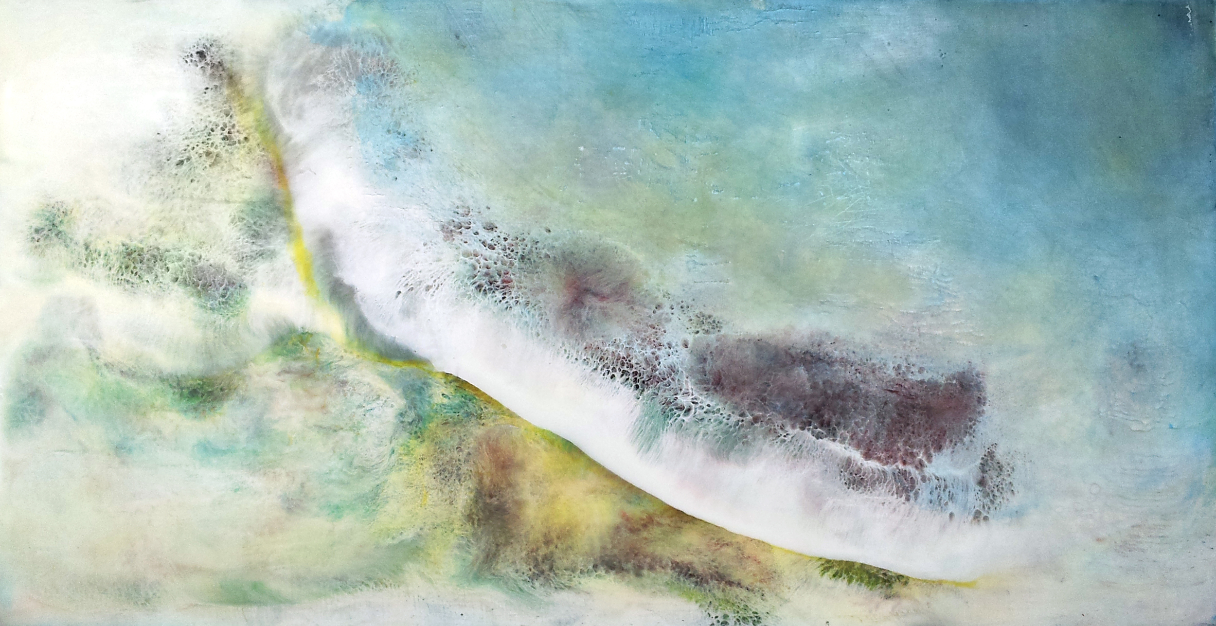 """Untitled    Encaustic on Panel, Signed on Verso  12"""" x 24""""    PriceAvailable Upon Request"""