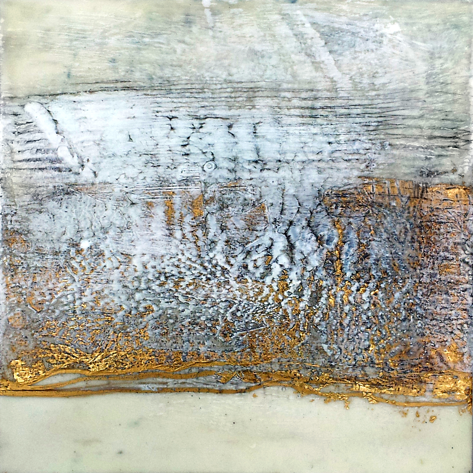 "Untitled    Encaustic on Panel  12"" x 12""    SOLD"