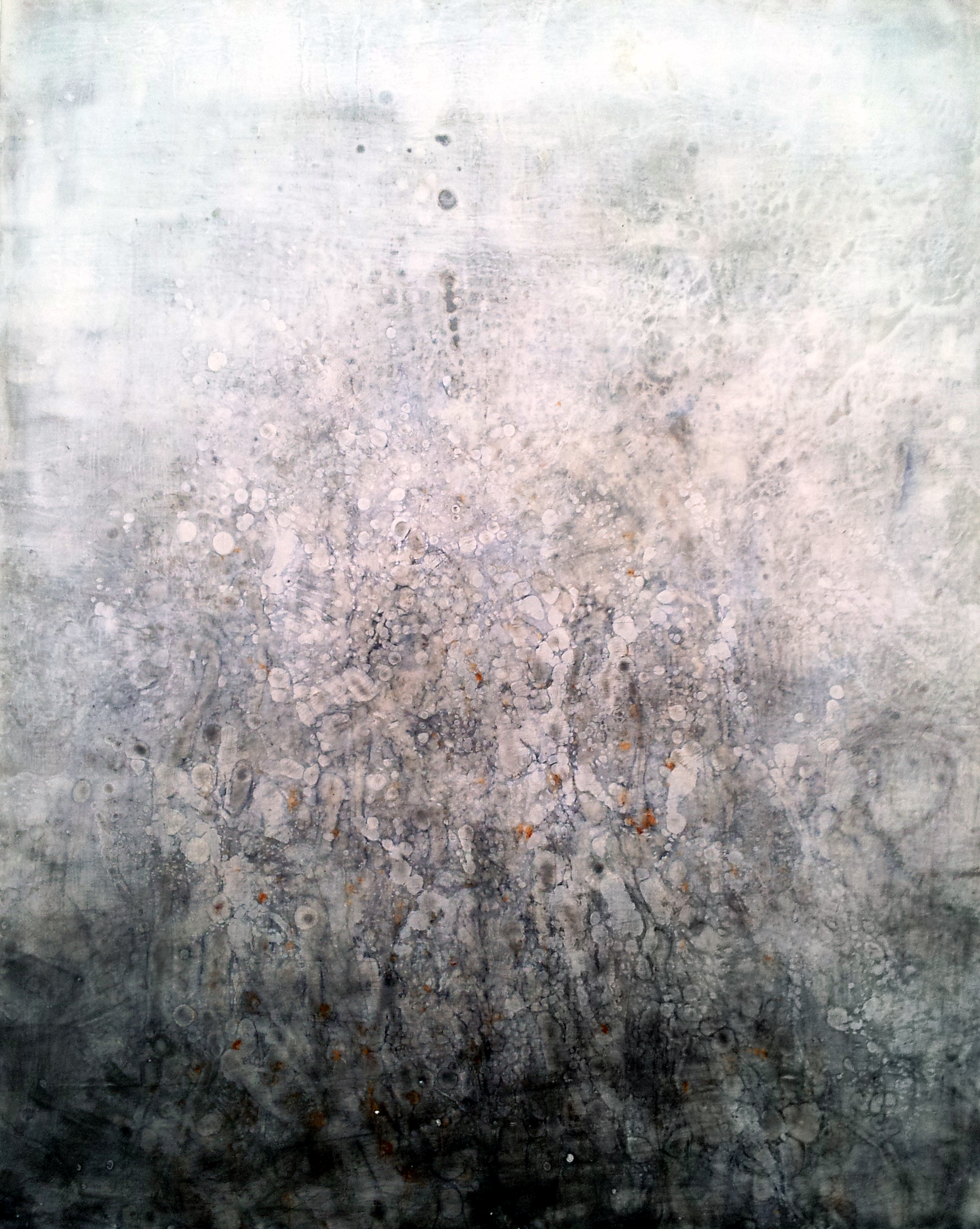 "Untitled    Encaustic on Panel, Signed on Verso  24"" x 18""    Price Available Upon Request"