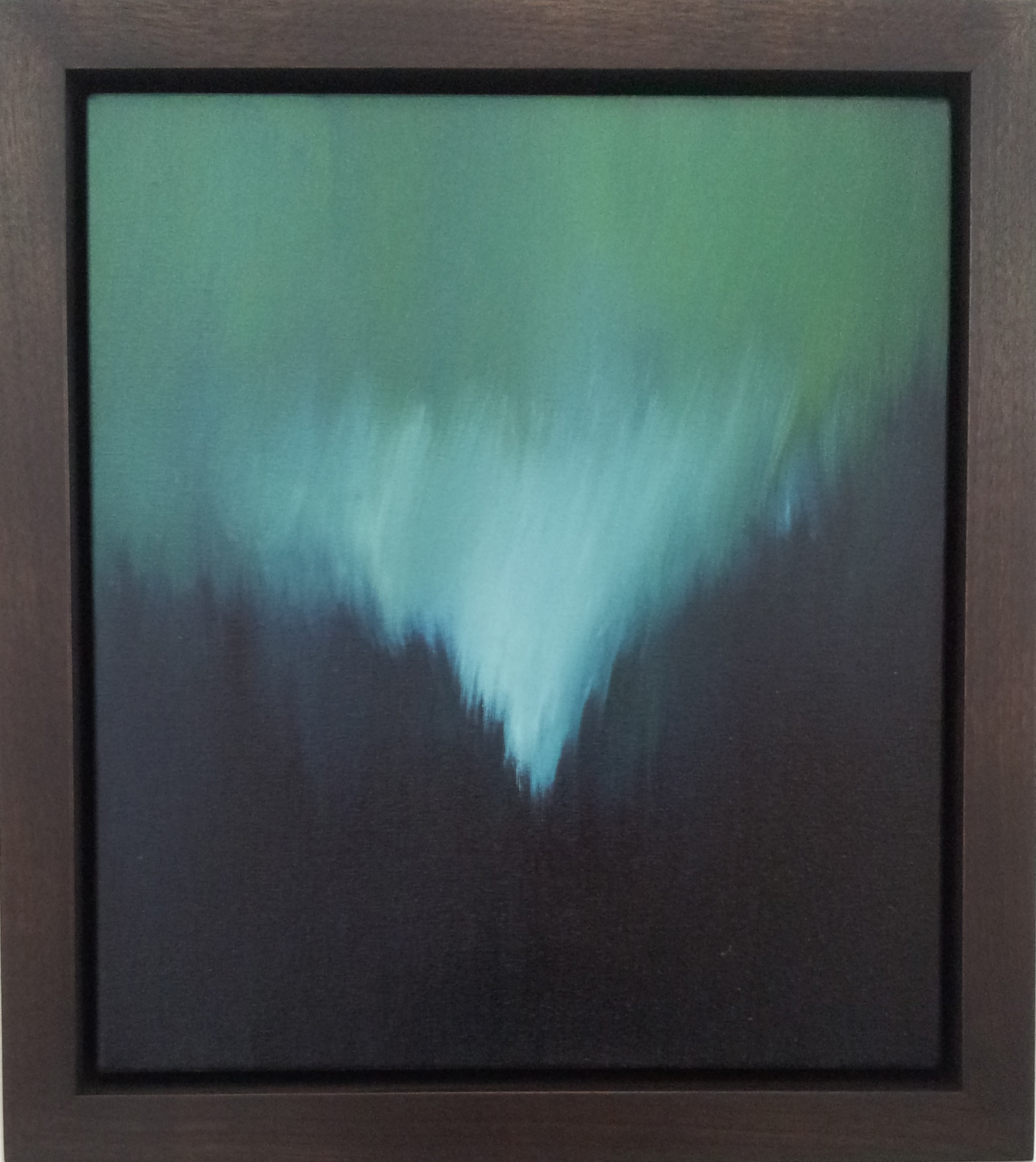 "Untitled, Breathwork    Oil on Canvas, Signed on Verso  16"" x 14"" / 19"" x 17"" Framed ( Plasteel Frame )    $2,100"