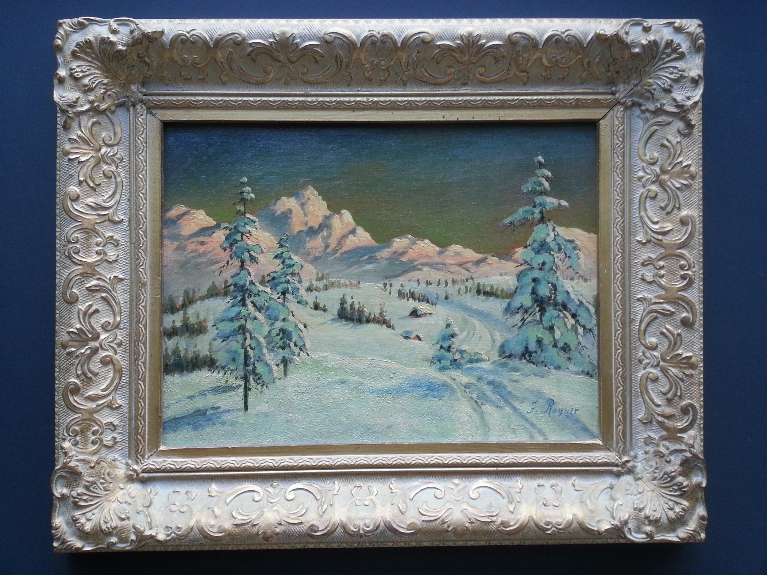 "Winter Hills    Oil on Canvas Board, Signed ( l.r. ) ""F. Rayner""  12"" x 16"" / 18"" x 22"" Framed ( Original Period Frame )    Price Available Upon Request"
