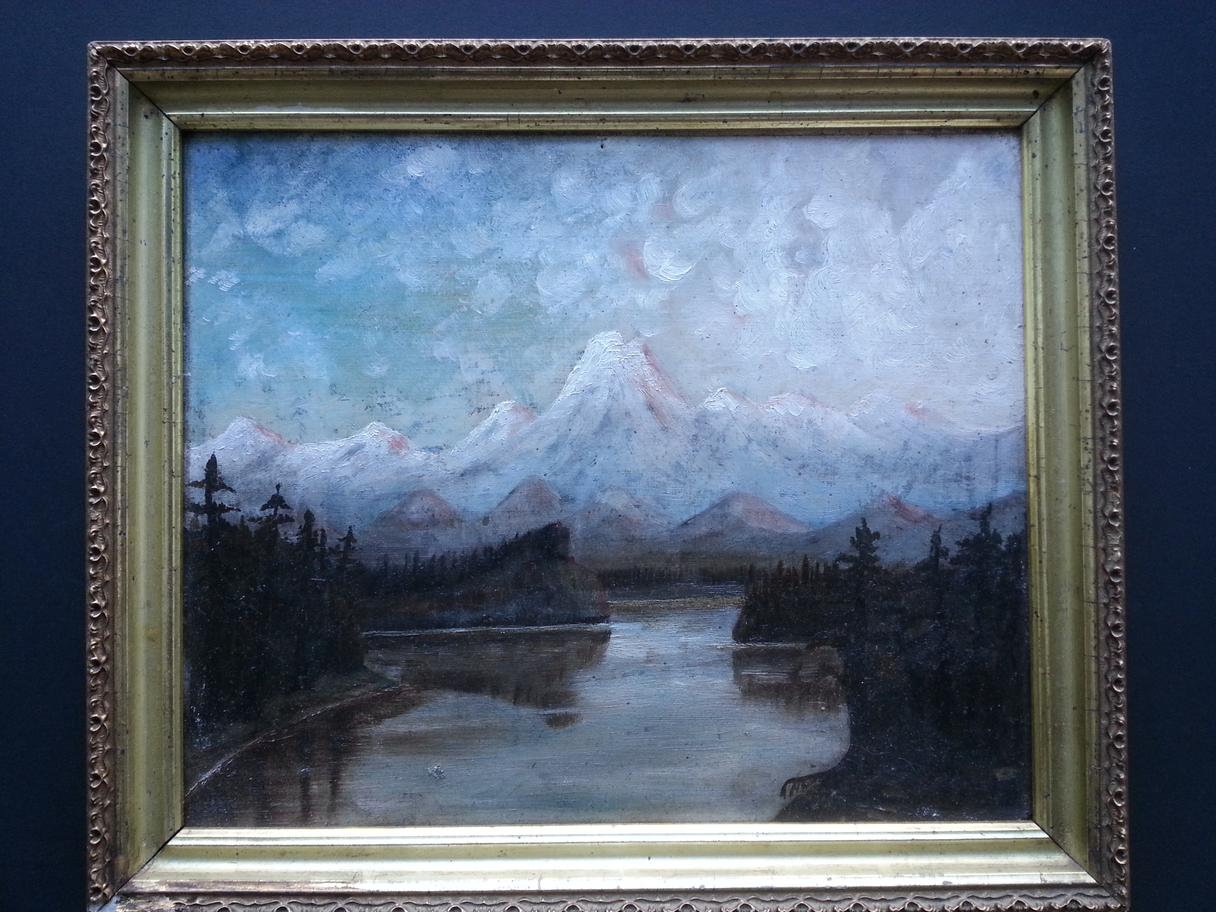 "Rocky Mountain View    Oil on Panel  10"" x 12"" / 11 3/4"" x 13 3/4"" Framed ( Period Frame )    Price Available Upon Request"